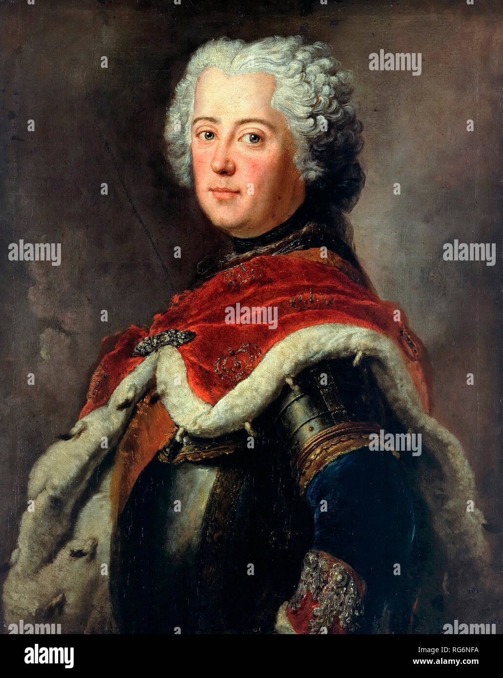 Frederick the Great as Crown Prince - Antoine Pesne, circa 1740 - Stock Image