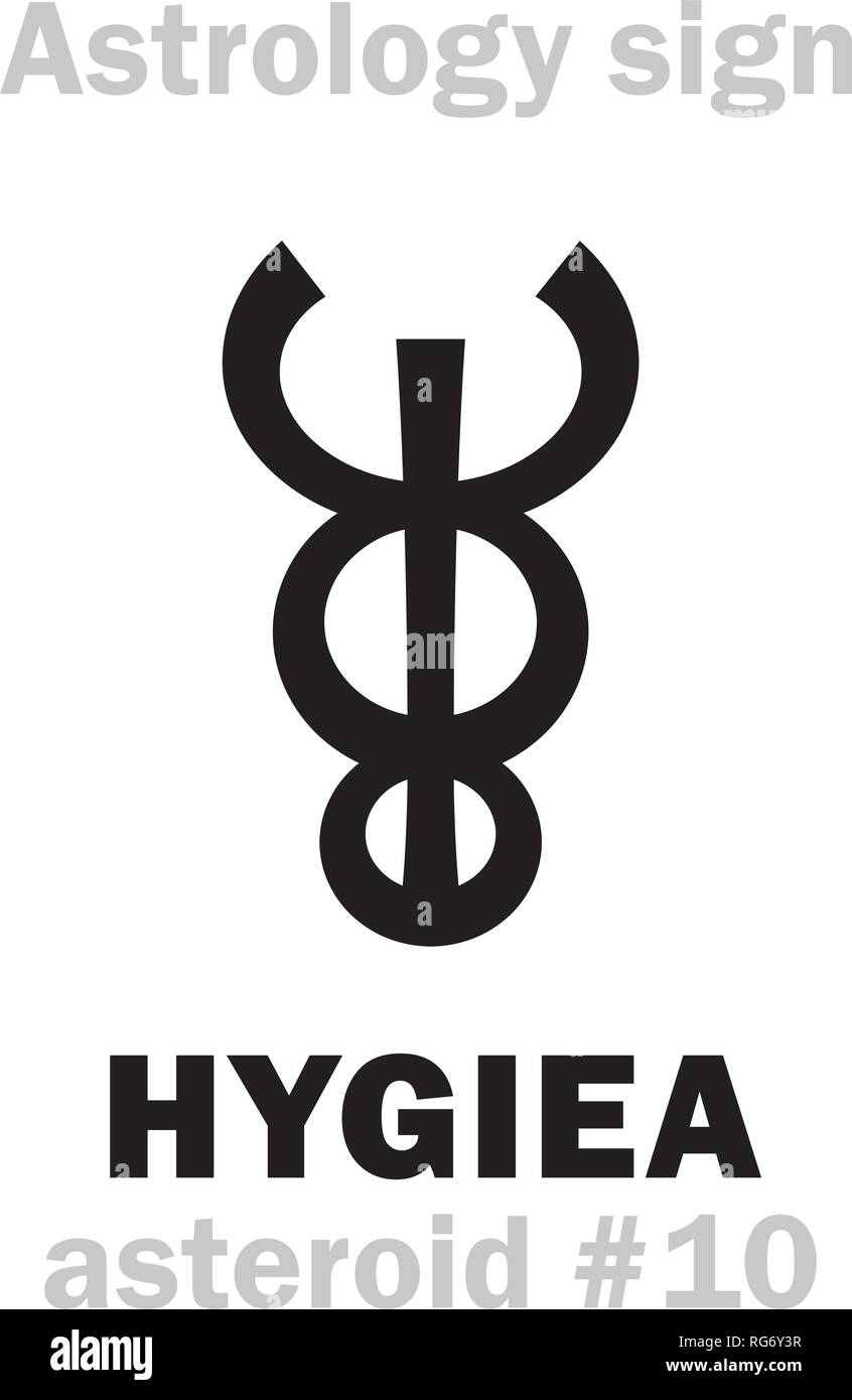 Astrology Alphabet: HYGIEA, asteroid #10 (and fourth largest