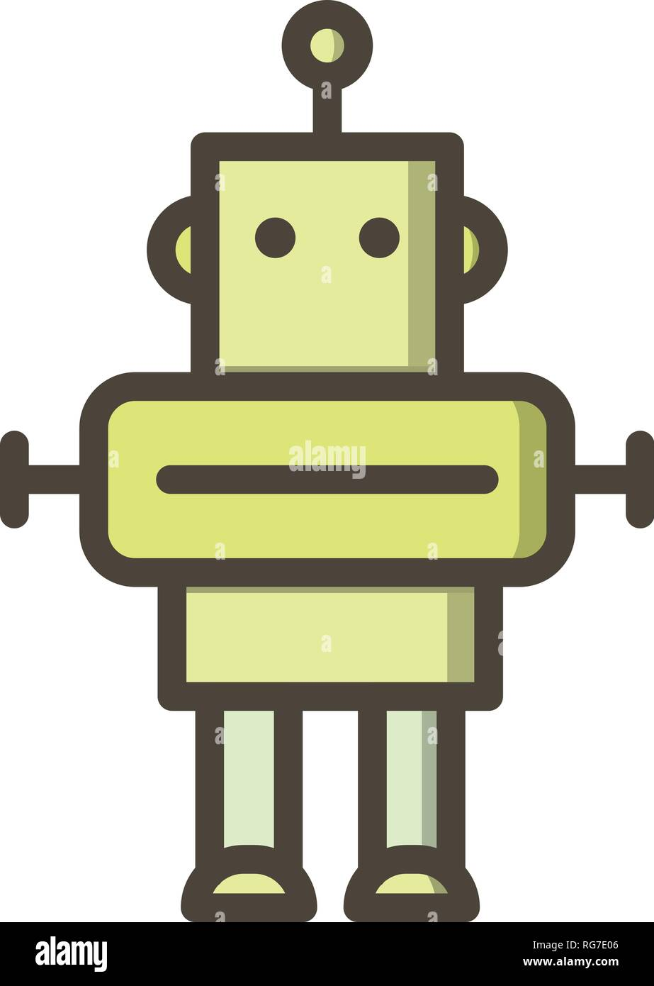 Robot Vector Icon Sign Icon Vector Illustration For Personal