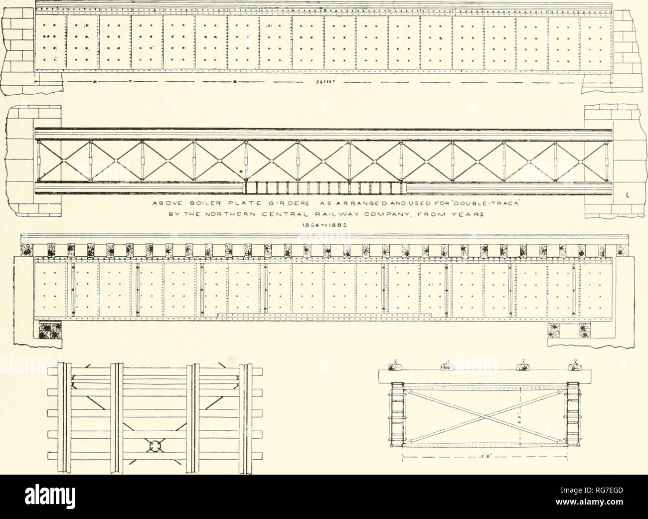 Plate Girder Bridge Stock Photos & Plate Girder Bridge Stock