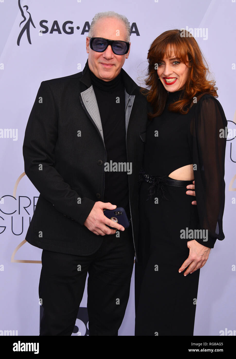 Los Angeles, USA. 27th Jan, 2019. Eleanor Kerrigan, Andrew Dice Clay 301 arriving at the 25th Annual Screen Actors Guild Awards at The Shrine Auditorium on January 27, 2019 in Los Angeles, California Credit: Tsuni/USA/Alamy Live News - Stock Image