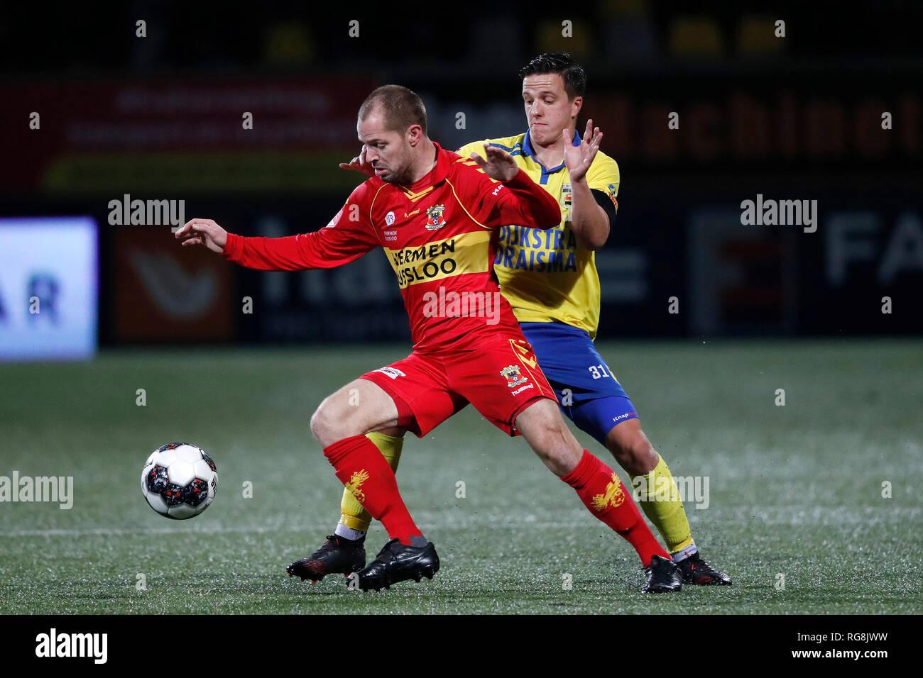 Leeuwarden Netherlands 28th January 2019 Cambuur Stadion Season 2018 2019 Keukenkampioen Divisie Istvan Bakx Nino Van