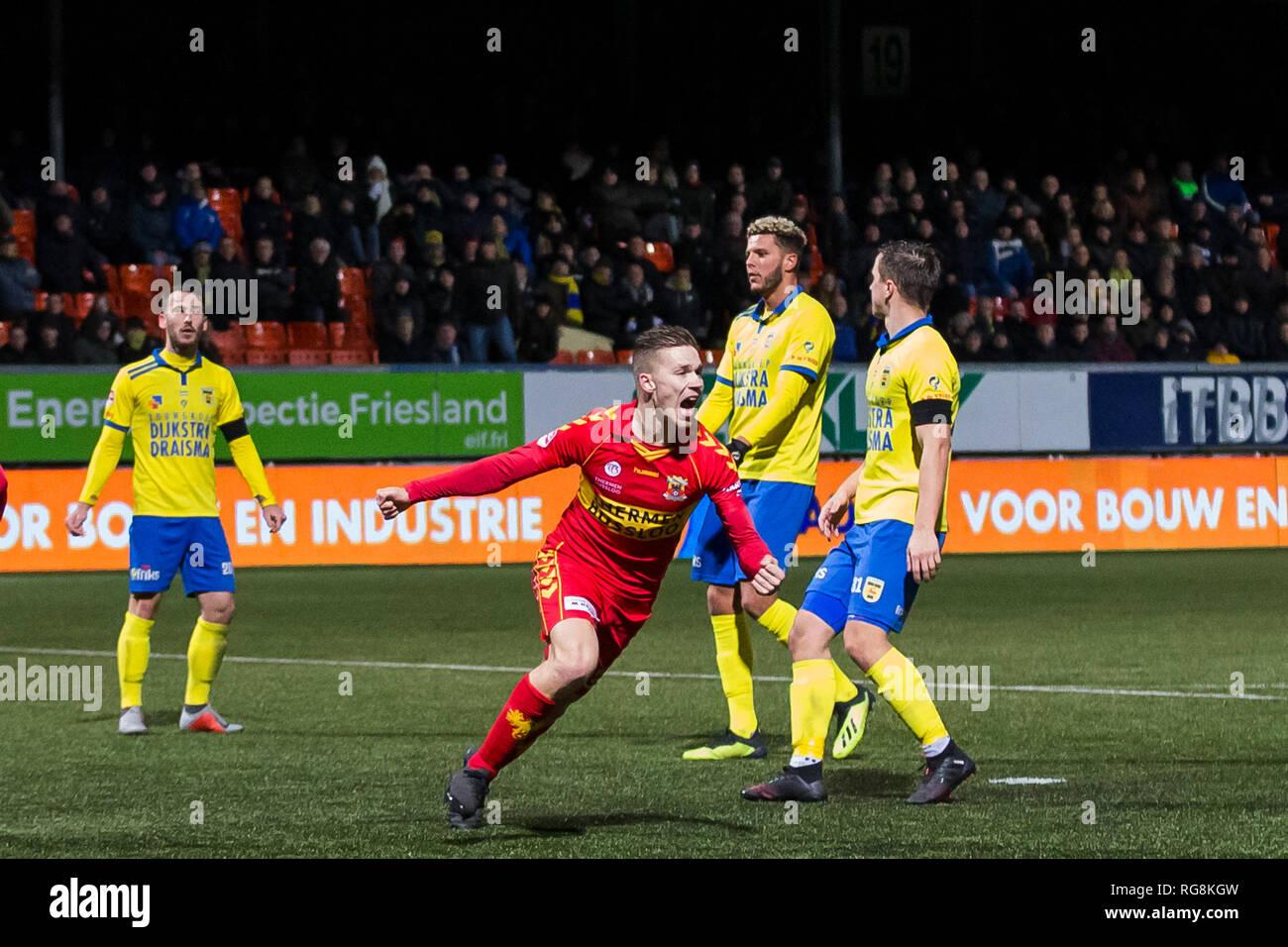 Leeuwarden Netherlands 28th January 2019 Netherlands 28th January 2019 Cambuur Stadium 28 01 2019 Season 2018