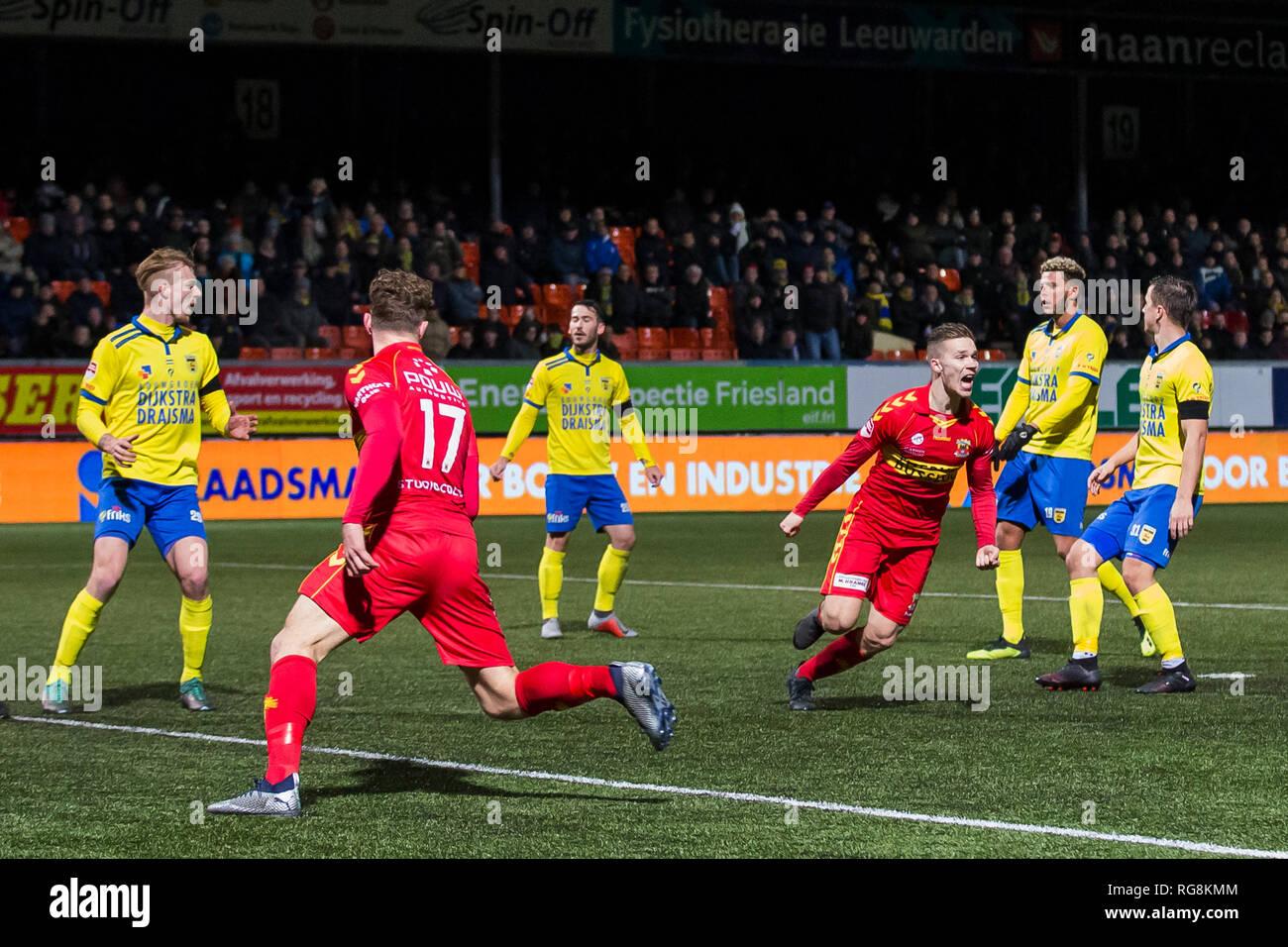 Leeuwarden Netherlands 28th January 2019 Cambuur Stadium 28 01 2019 Season 2018 2019 Dutch Keuken Kampioen