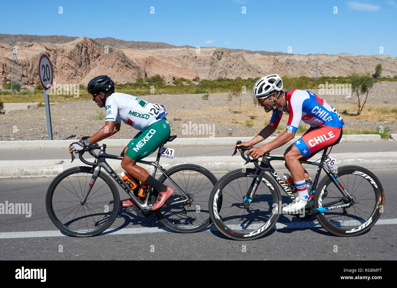 Mendoza Argentina 28th Jan 2019 Mendoza Argentina January 28 Julian Alaphilippe First Place Second Place Simone
