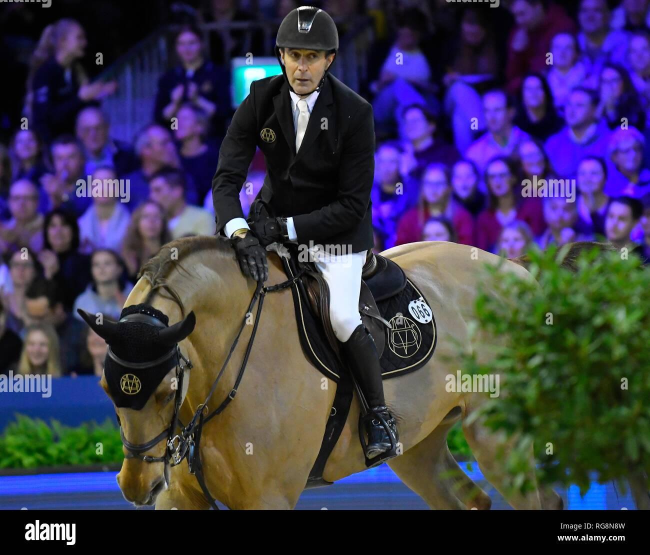Show Jumping : Jumping Amsterdam 2019 Eric van der Vleuten (NED) with Wunschkind on January 27, 2019 in Amsterdam, the Netherlands. Credit: Margarita Bouma/SCS/AFLO/Alamy Live News Stock Photo