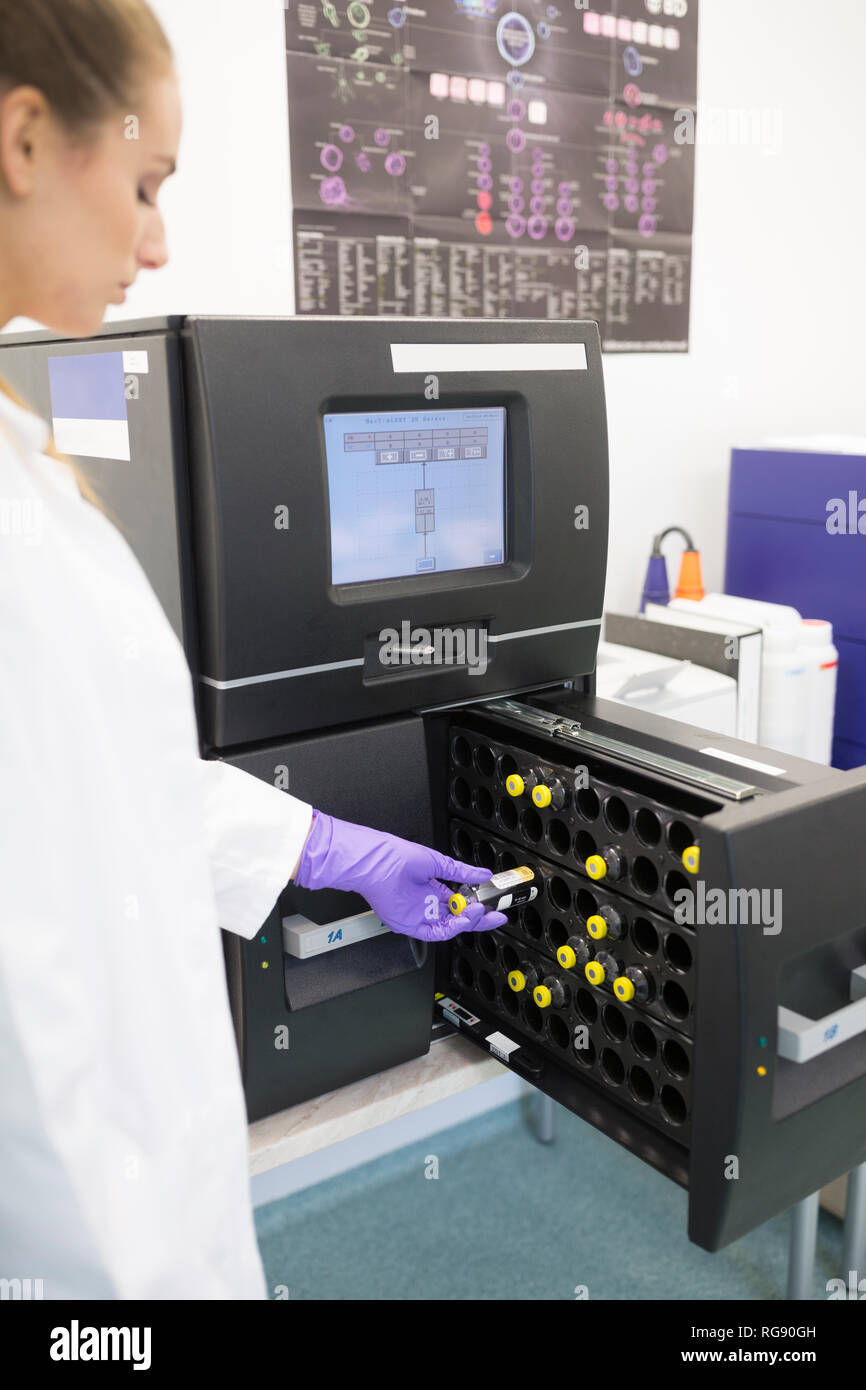 Check of microbial contamination - Stock Image
