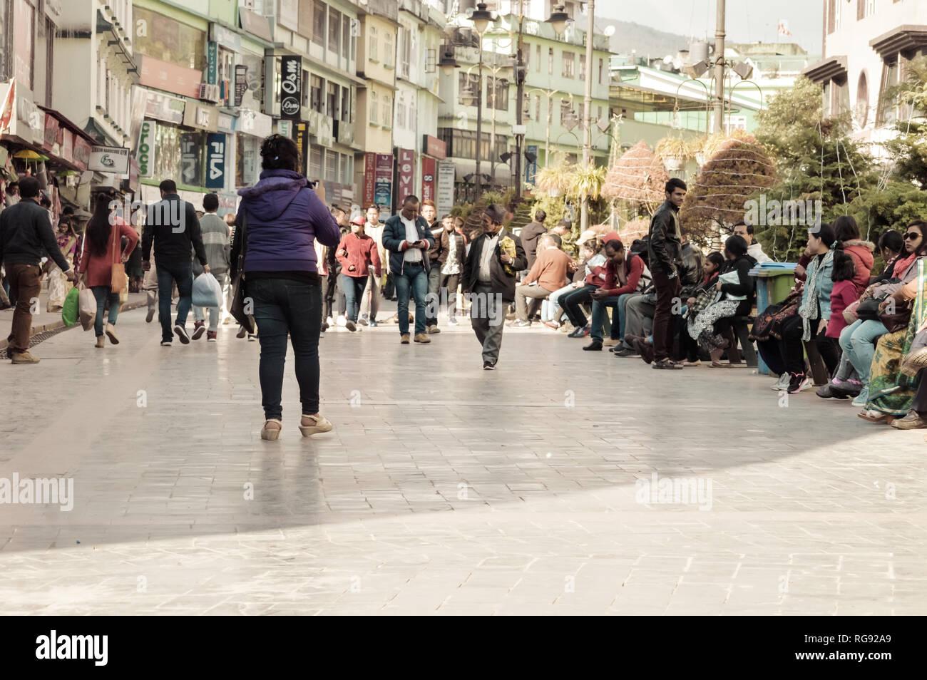 57c3e22d2c Walking Shopping Mall Relaxing Stock Photos   Walking Shopping Mall ...