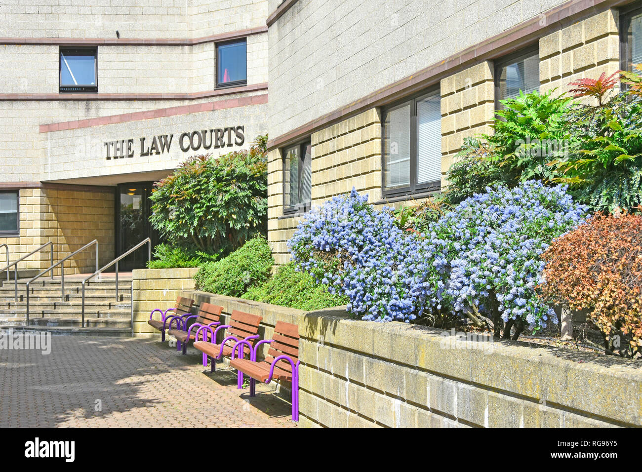 The Law Courts courthouse building  Croydon in south London includes County Court & Family Court as well as the location of the Crown court England UK - Stock Image