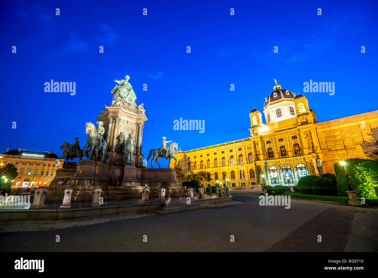 Austria, Vienna, Maria-Theresien-Platz, Museum of Art History and Museum of Natural History - Stock Image
