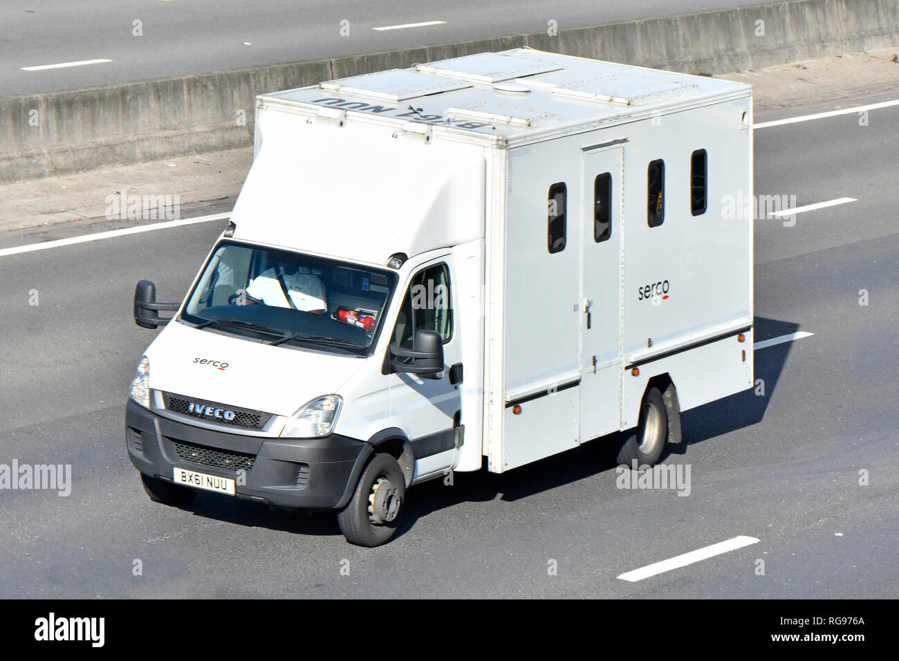 Prisoner Transport Van >> Looking Down From Above Front Side Roof Iveco Prisoner