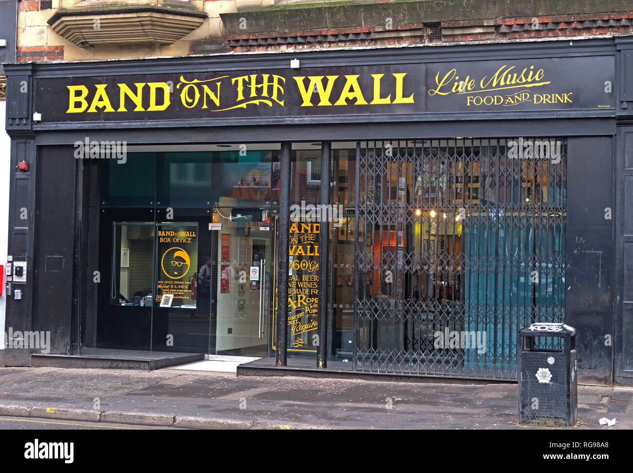 Band on the wall, music venue, 25 Swan Street Manchester, England, UK, M4 5JZ - Stock Image