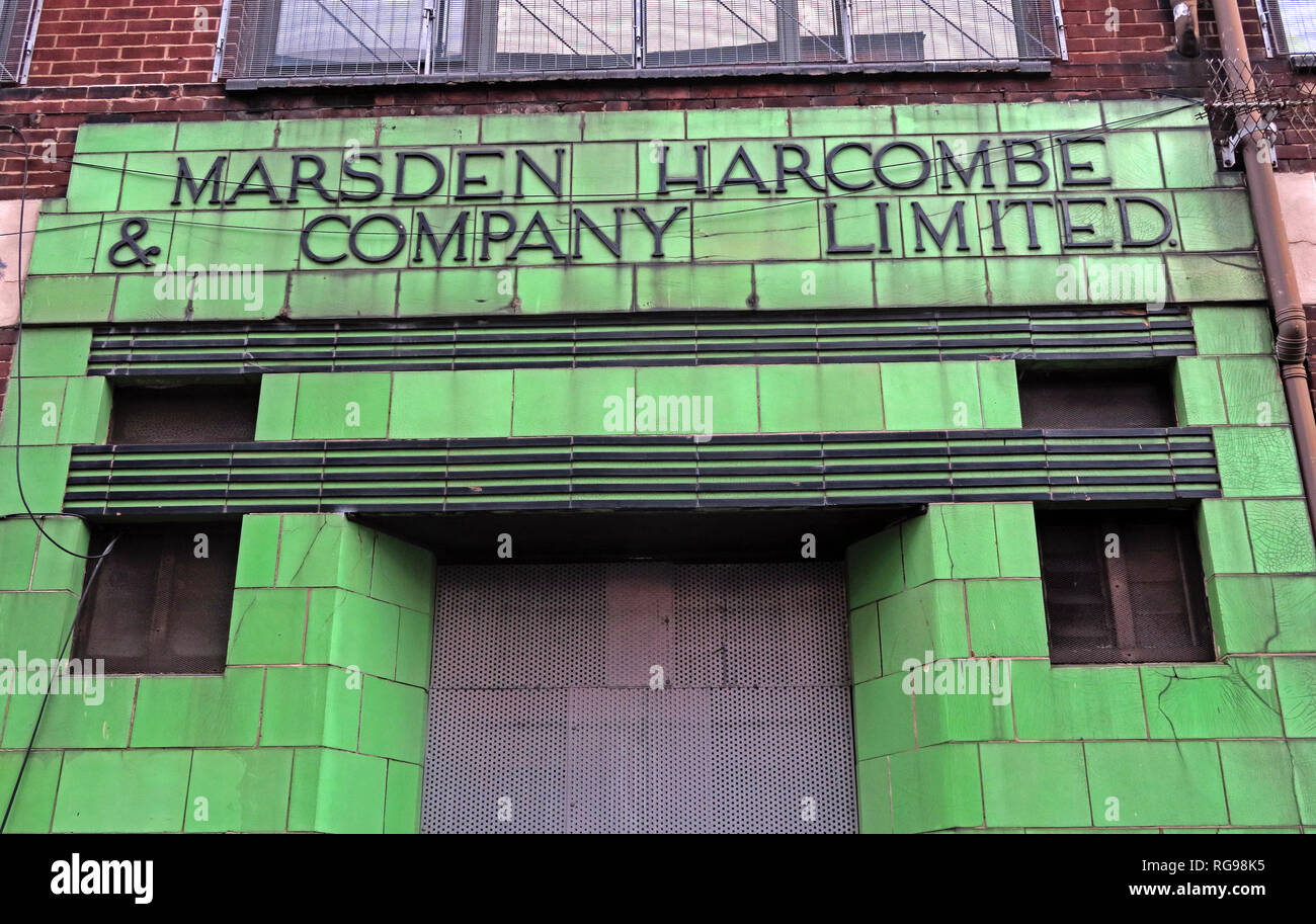 Marsden Harcombe Company Limited, Marshall St, Manchester, City Centre, North West England, UK,  M4 5FU - Stock Image