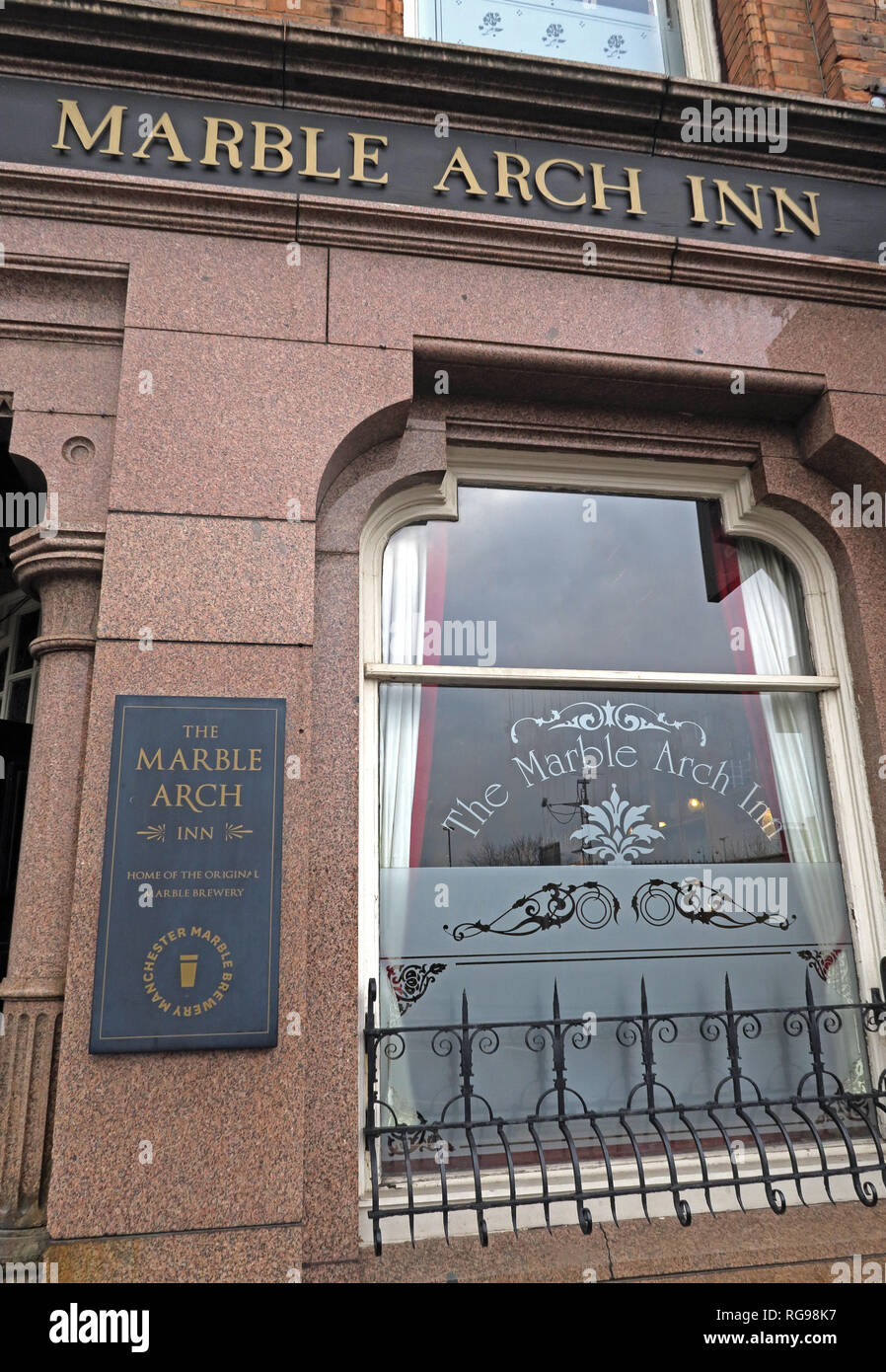 The Marble Arch Inn, Marble Brewery, 73 Rochdale Road, Manchester City Centre, North West England, UK,  M4 4HY Stock Photo
