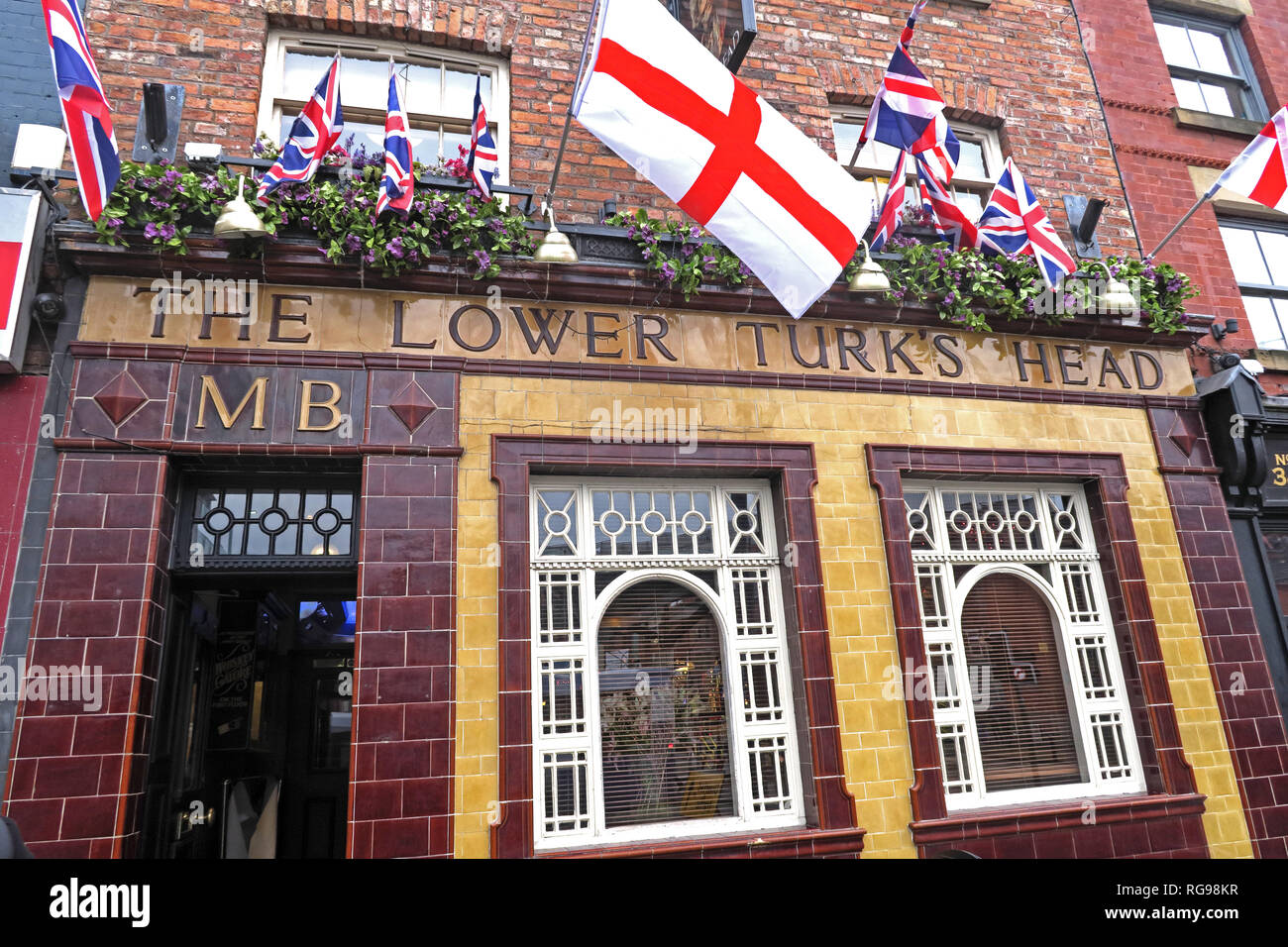The Lower Turks Head, 36 Shudehill, Manchester, North West England, UK, M4 1EZ - Stock Image