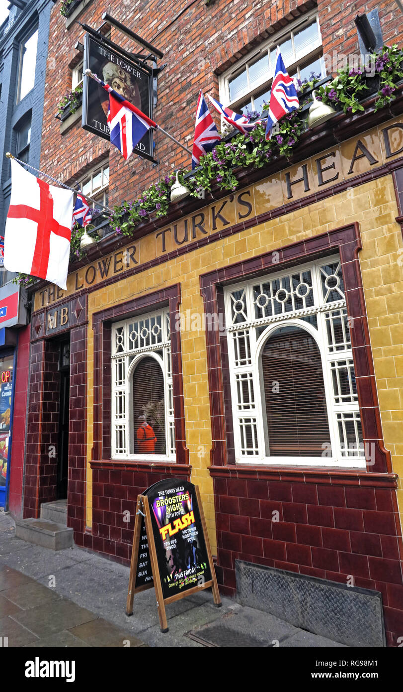 The Lower Turks Head, 36 Shudehill, Manchester, North West England, UK, M4 1EZ - Stock Image
