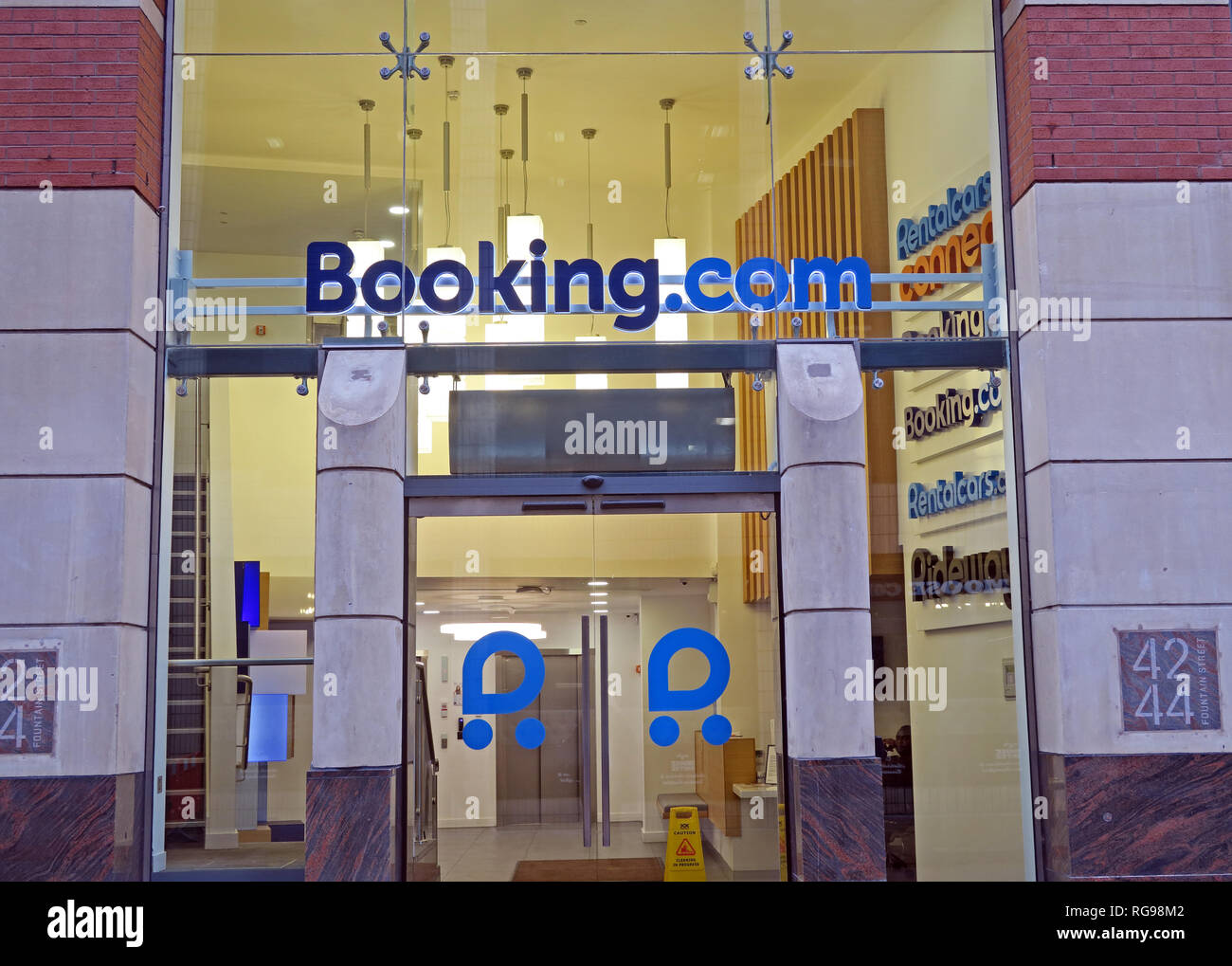 Manchester Offices of Booking.com (online hotels and car hire), City Centre, Lancashire, North West England, - Stock Image
