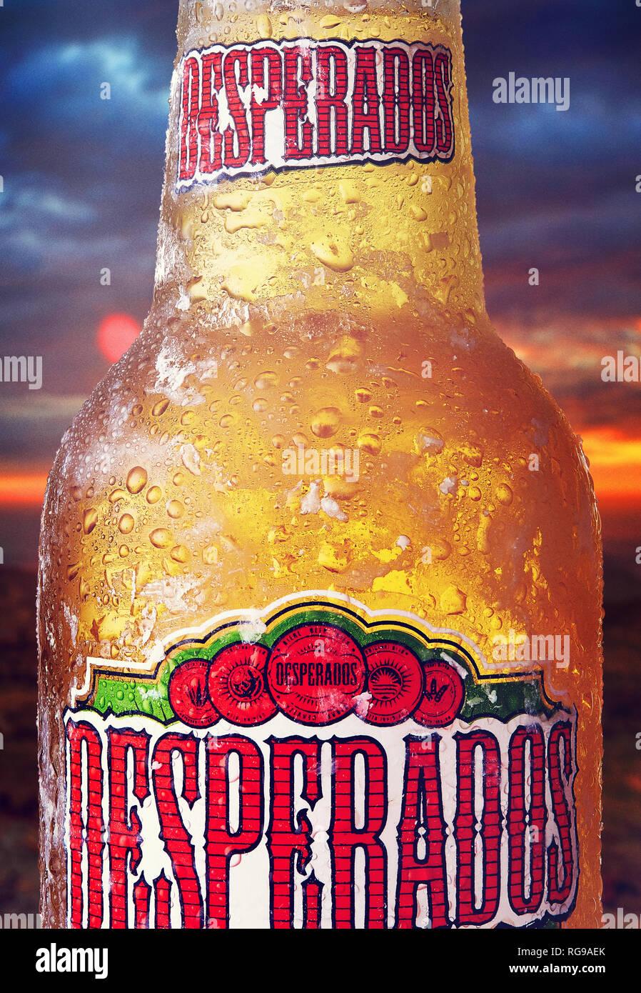 Cold Desperados Drink Alcohol Stock Photo Alamy