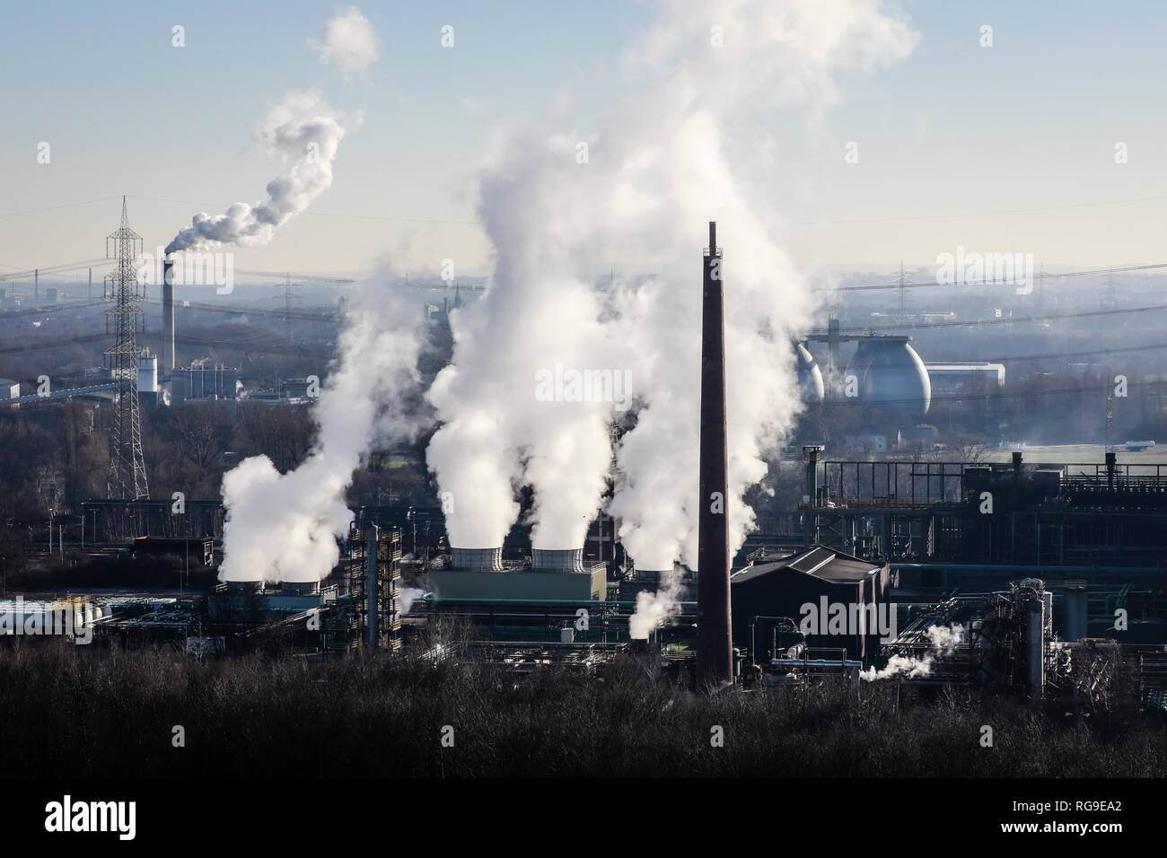 Bottrop, Ruhr area, North Rhine-Westphalia, Germany - Prosper coking plant in Bottrop. It is one of the three coking plants in operation in the Ruhr a - Stock Image