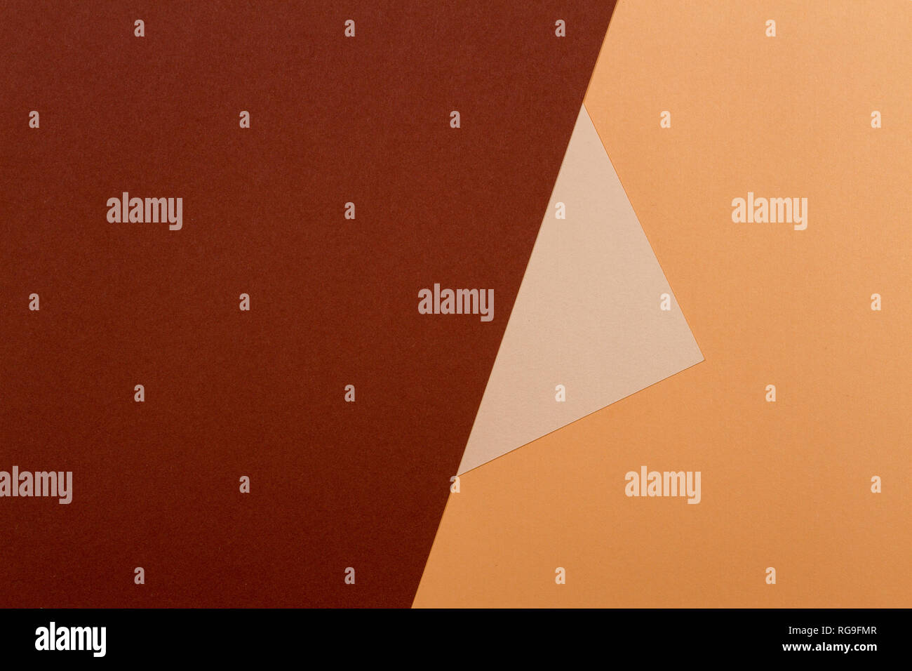 Color papers geometry composition background with beige and brown tones Stock Photo