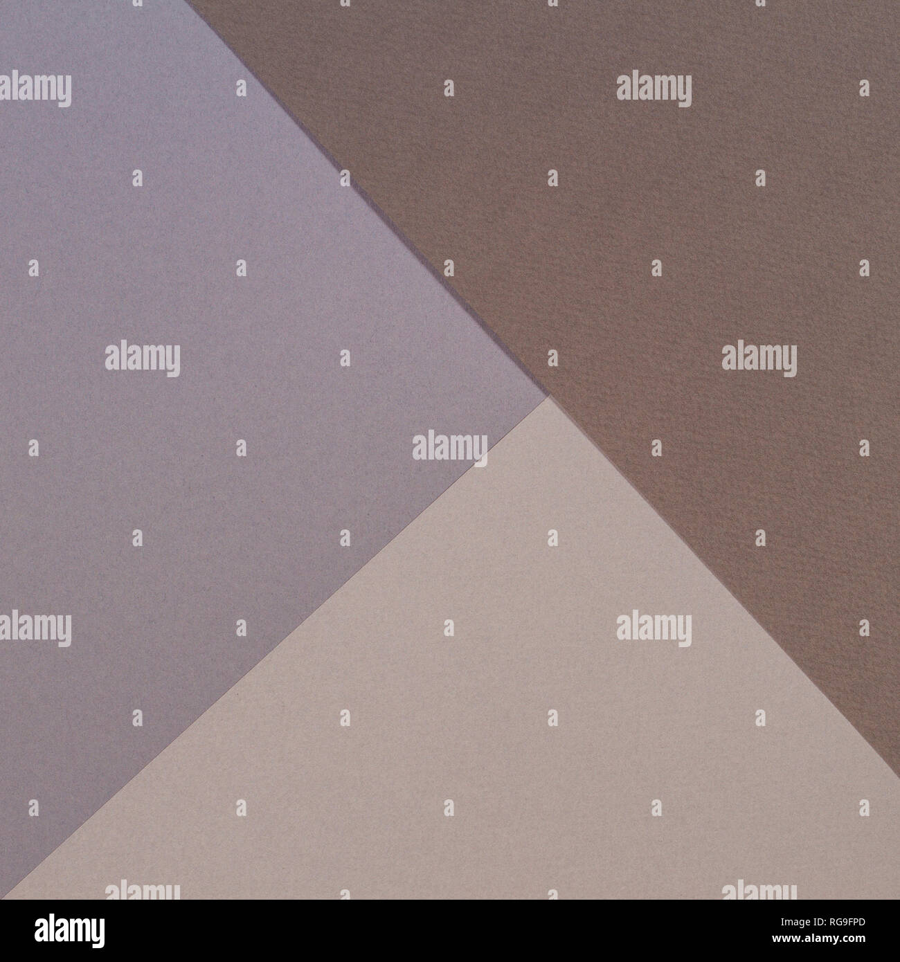 Color papers geometry composition background with gray beige and brown tones - Stock Image