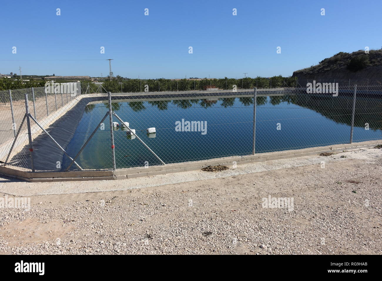 farmers water reserve - Stock Image