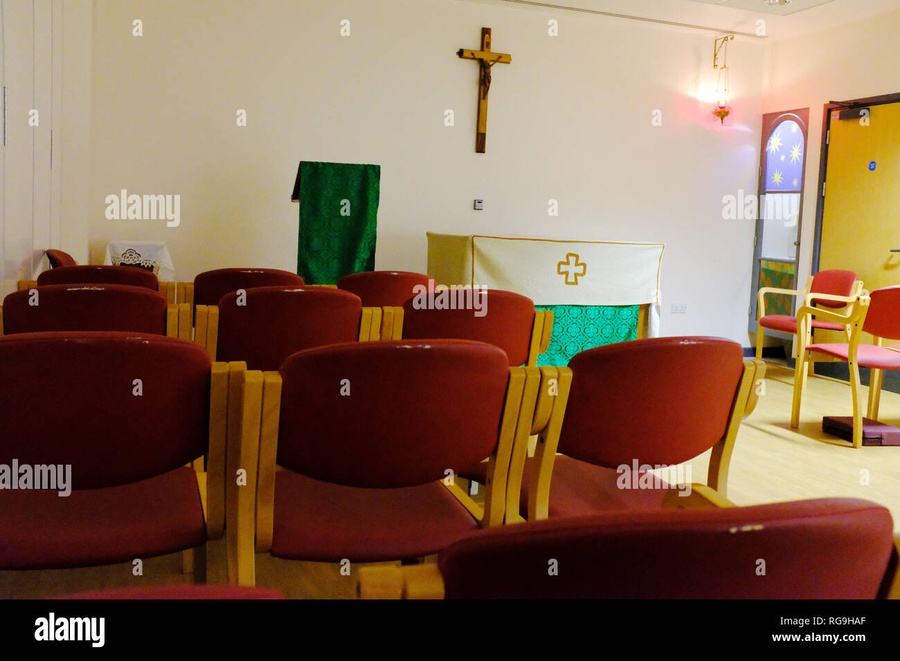 Chapel at St George's Hospital Tooting London UK Stock Photo