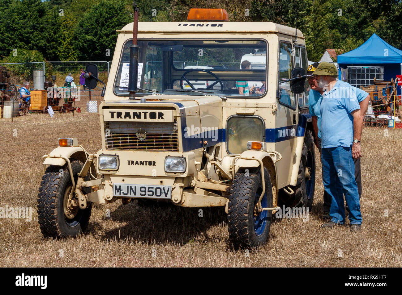 1980 Trantor Tractor Series 1 agricultural vehicle designed for multi-purpose uses except land work. On show at an agricultural show in Norfolk, UK - Stock Image