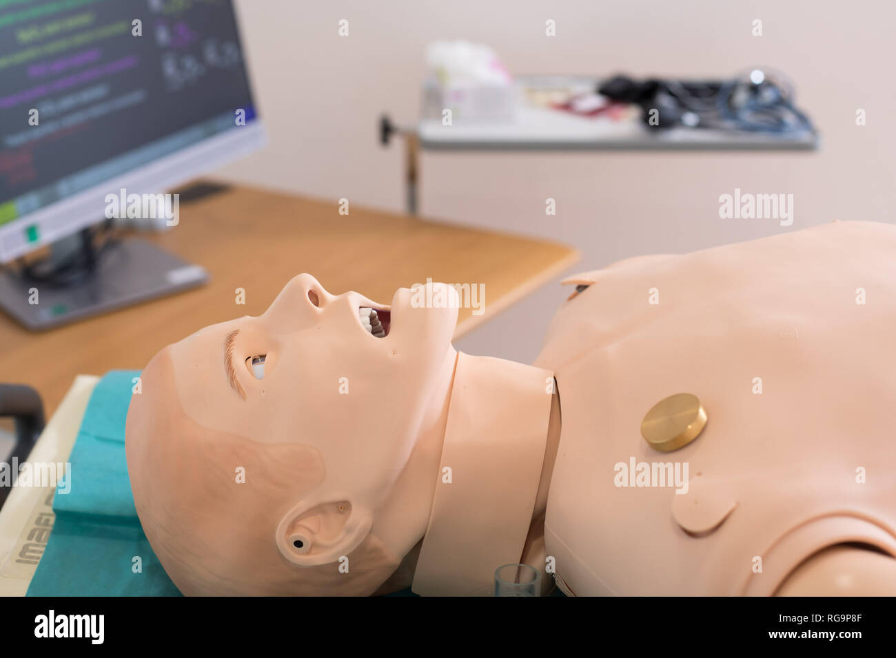 Healthcare patient simulator for modern practical training of health professionals. - Stock Image
