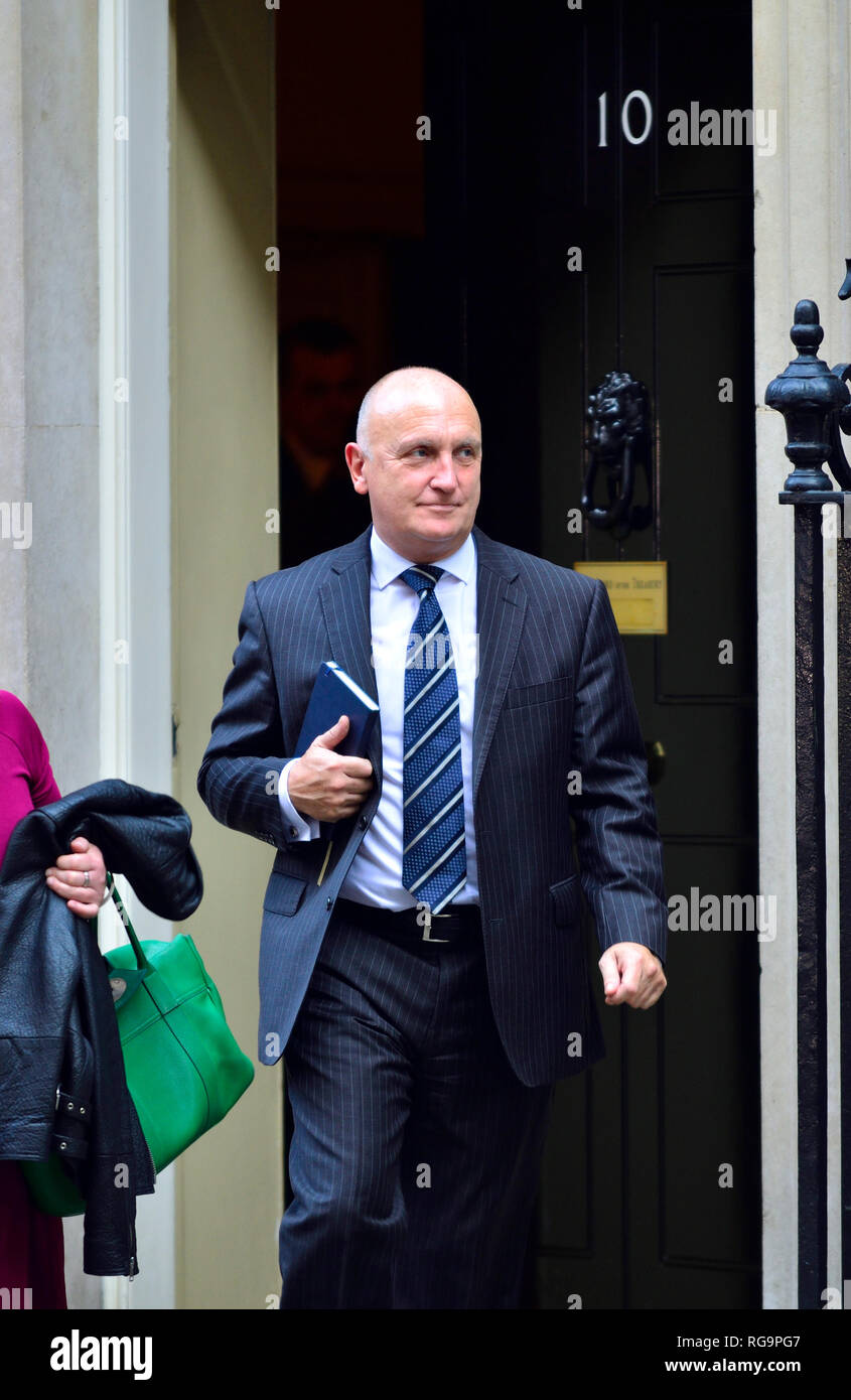 Stephen Phipson CBE (Chief Executive of EEF - the Manufacturers Organisation) leaving 10 Downing Street, 16th October 2018 - Stock Image