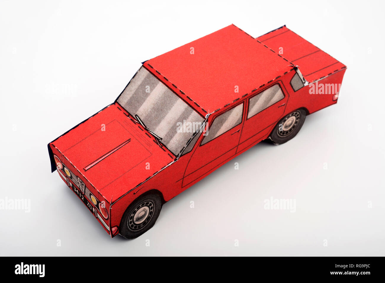 Model car made from card - Stock Image