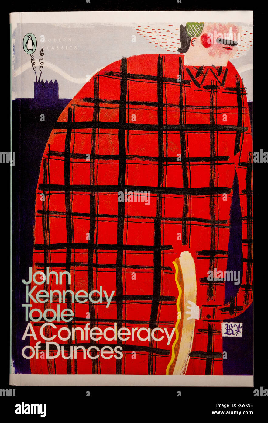 Book: A Confederacy of Dunces by John Kennedy Toole. Published by Penguin Modern Classics. - Stock Image