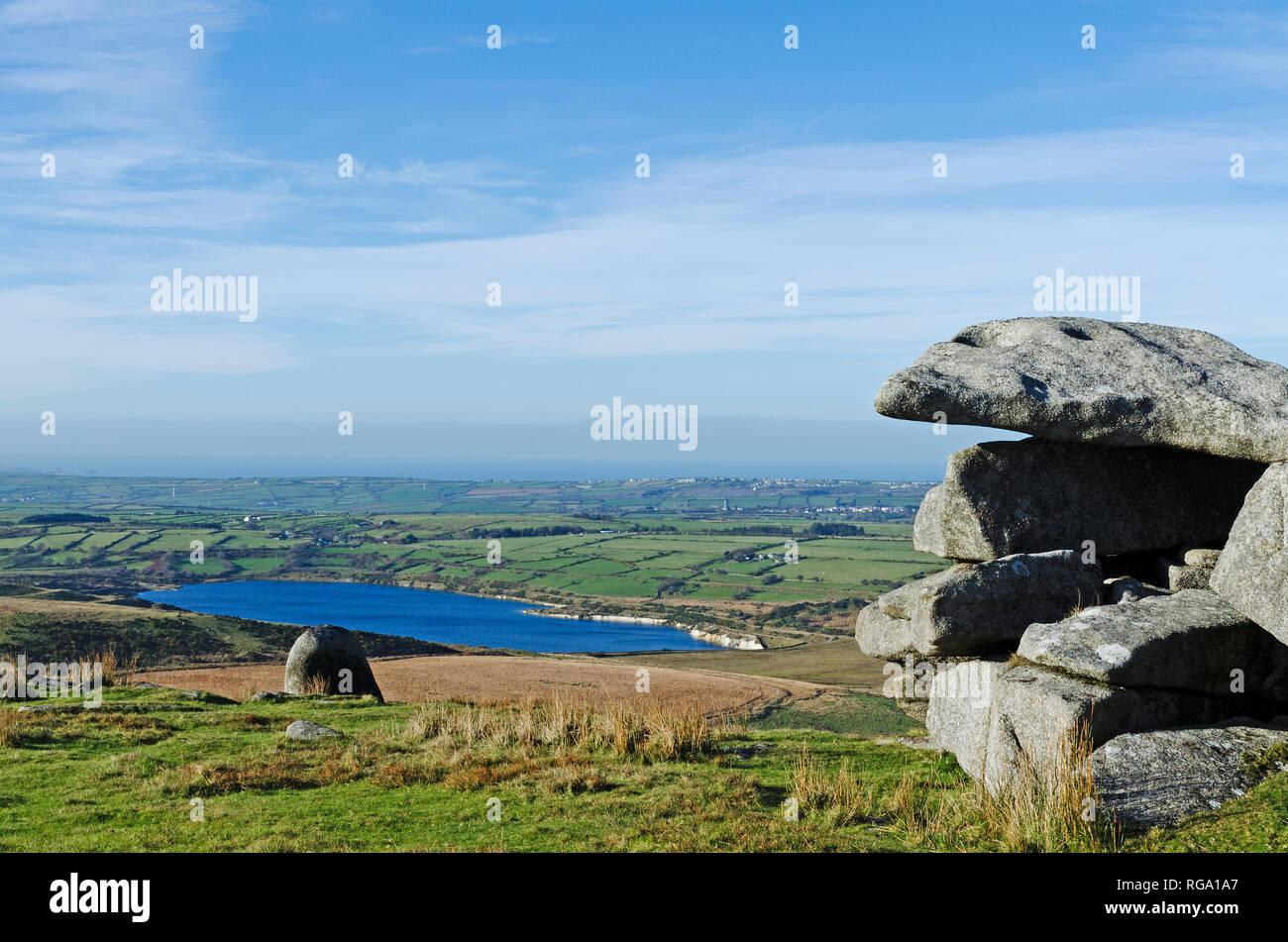 bodmin moor, cornwall, england, uk. - Stock Image