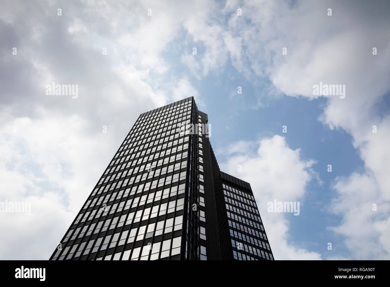 Germany, Essen, town hall seen from below - Stock Image