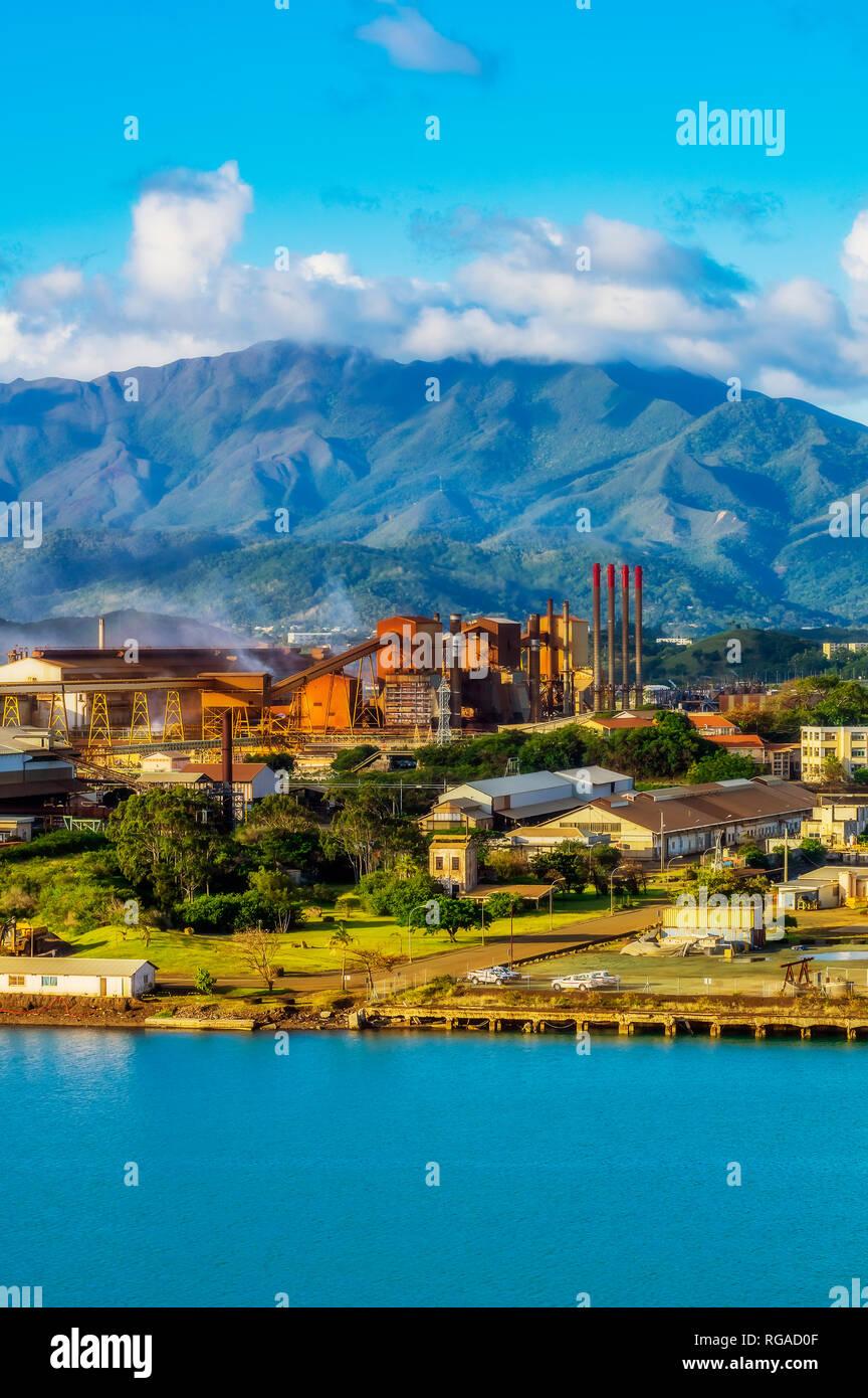 New Caledonia, Noumea, nickel industry - Stock Image