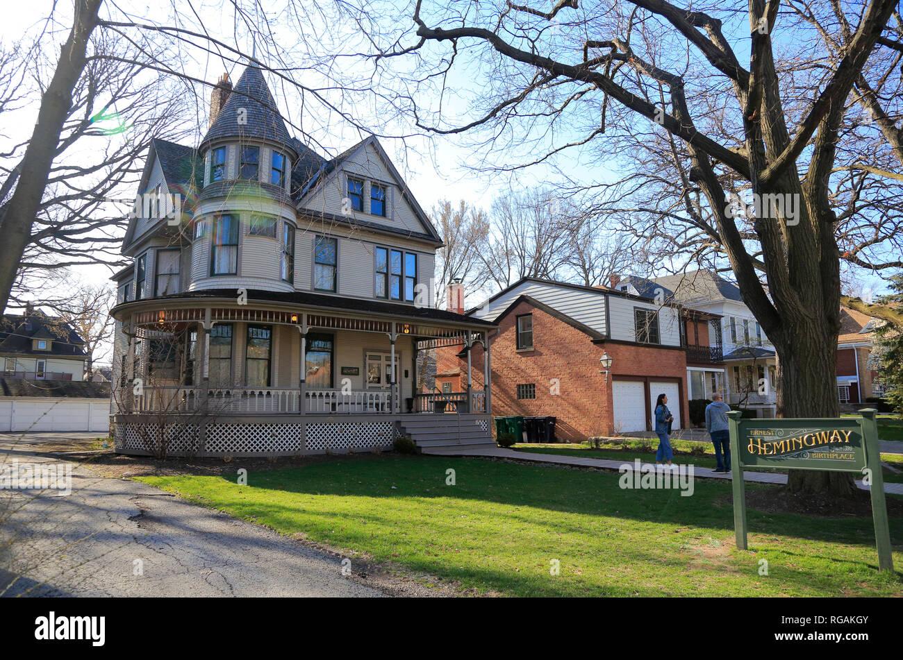 Ernest Hemingway's birthplace at 339 N. Oak Park Avenue.Oak Park. West of Chicago. Illinois. USA Stock Photo