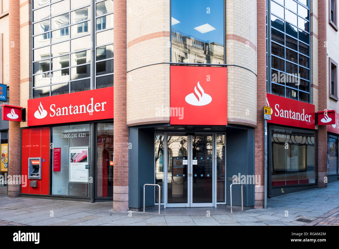Santander Bank due to close in 2019, Nottingham, England, UK - Stock Image