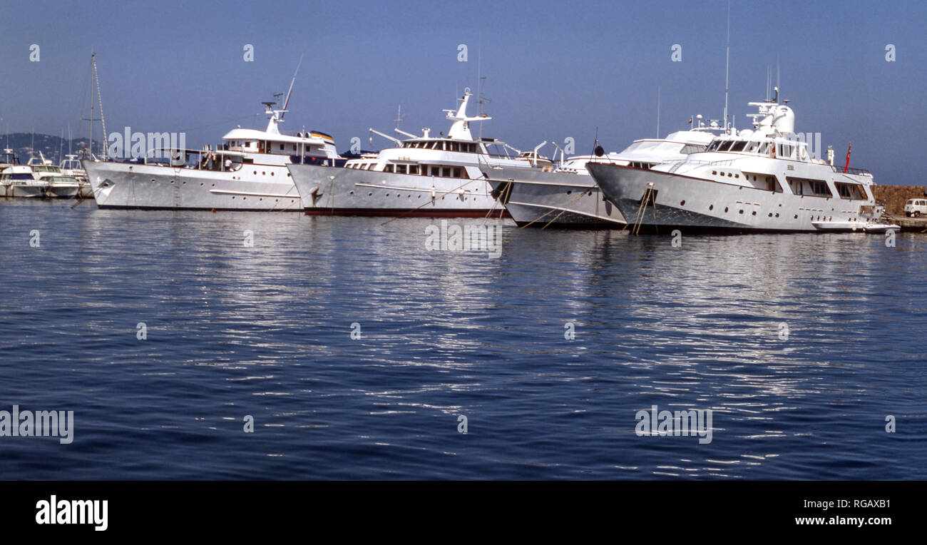 France. La Napoule near Cannes.French Riviera.Cote d'Azur..A section of the harbour. - Stock Image