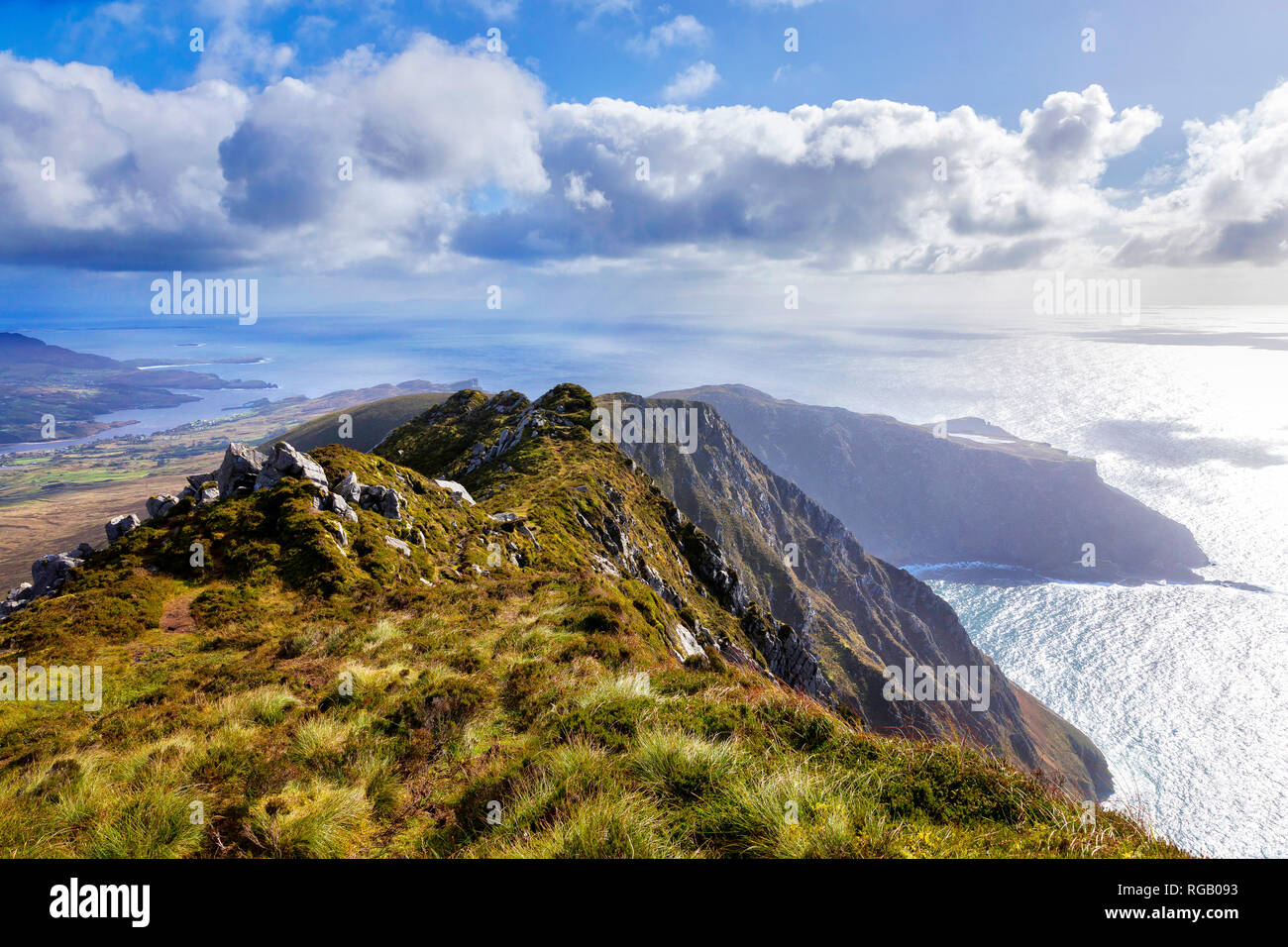 Slieve League, Sliabh Liag, cliffs in West Donegal, Ireland Stock Photo