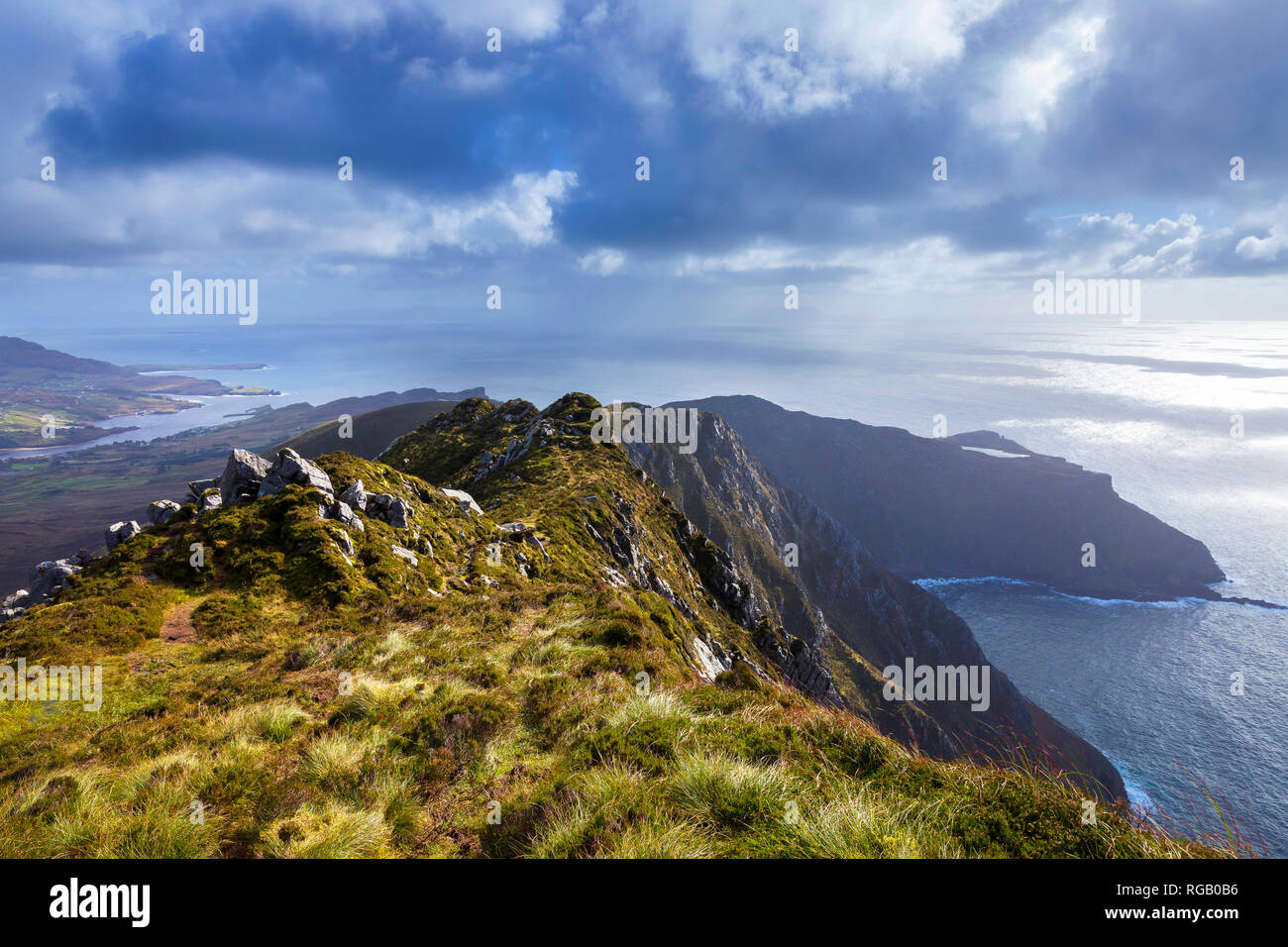 Slieve League, Sliabh Liag, cliffs in West Donegal, Ireland - Stock Image