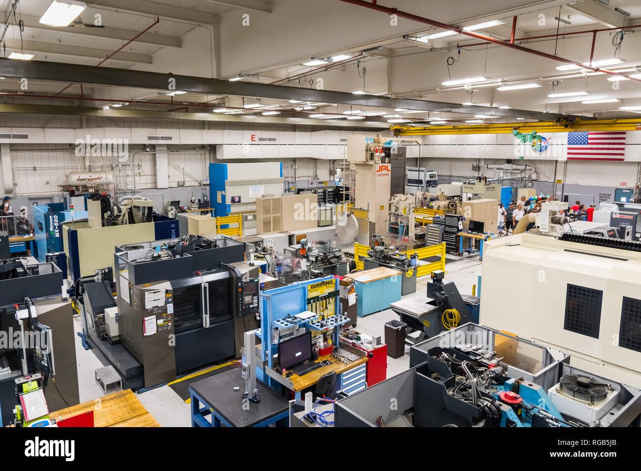 June 10, 2018 La Canada Flintridge / CA / USA -  Interior view of one of the rooms of the Spacecraft Fabrication Facility, the Jet Propulsion Laborato - Stock Image