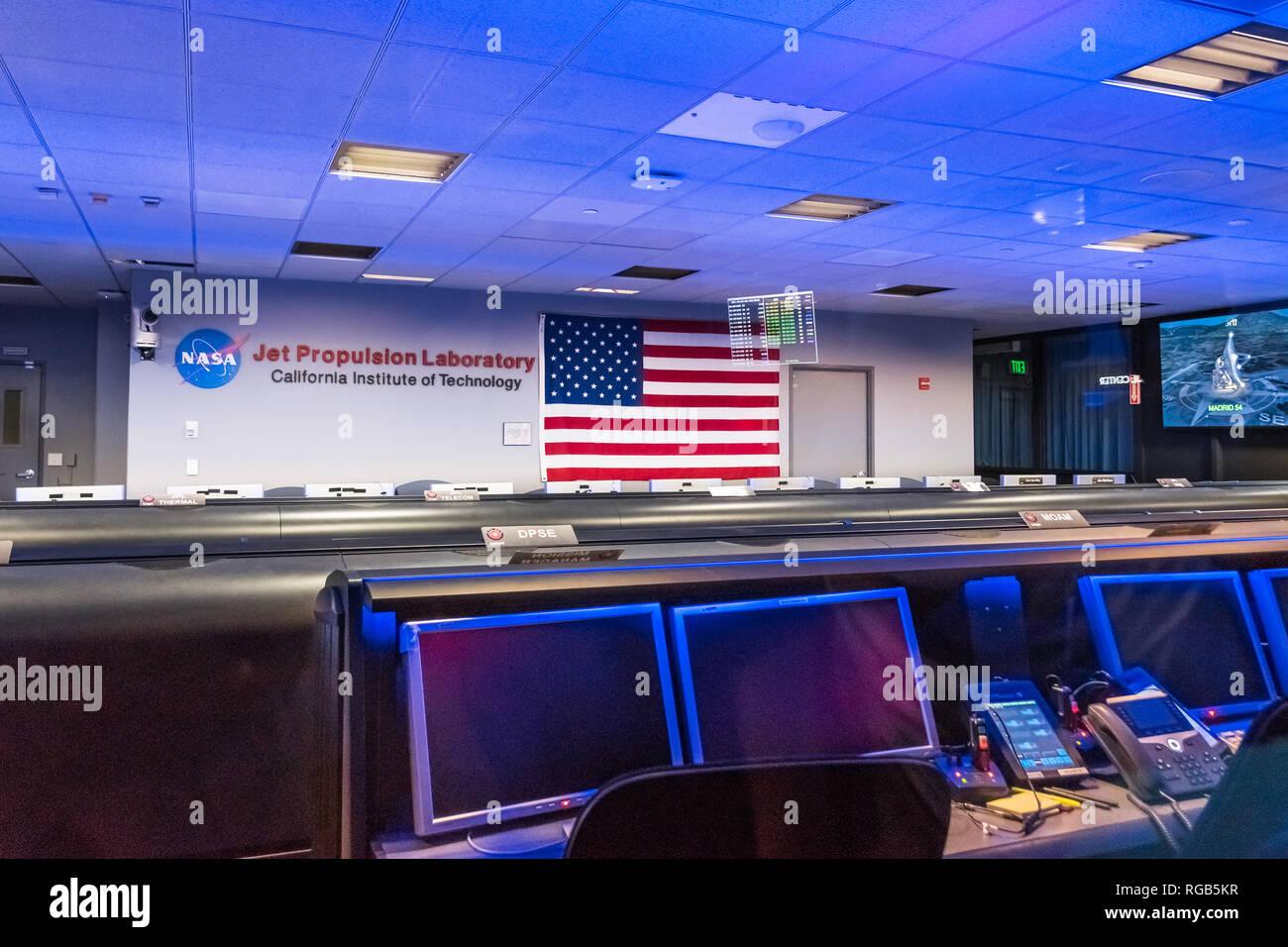 June 10, 2018 La Canada Flintridge / CA / USA -  Inside view of the Mission control center at the Jet Propulsion Laboratory (JPL) - Stock Image