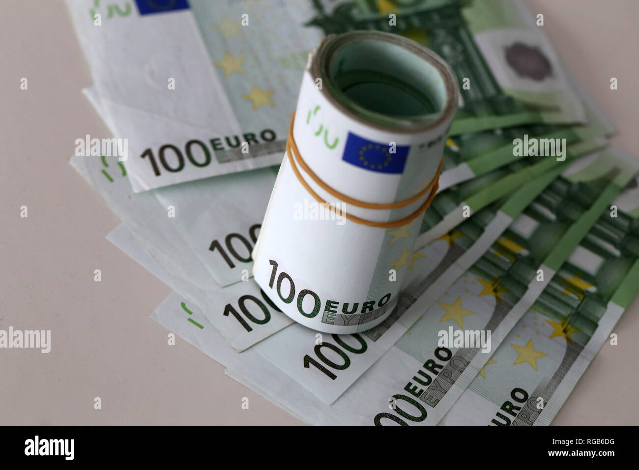 086d4a2f Banknotes worth 100 euros are on the table Stock Photo: 233815836 ...