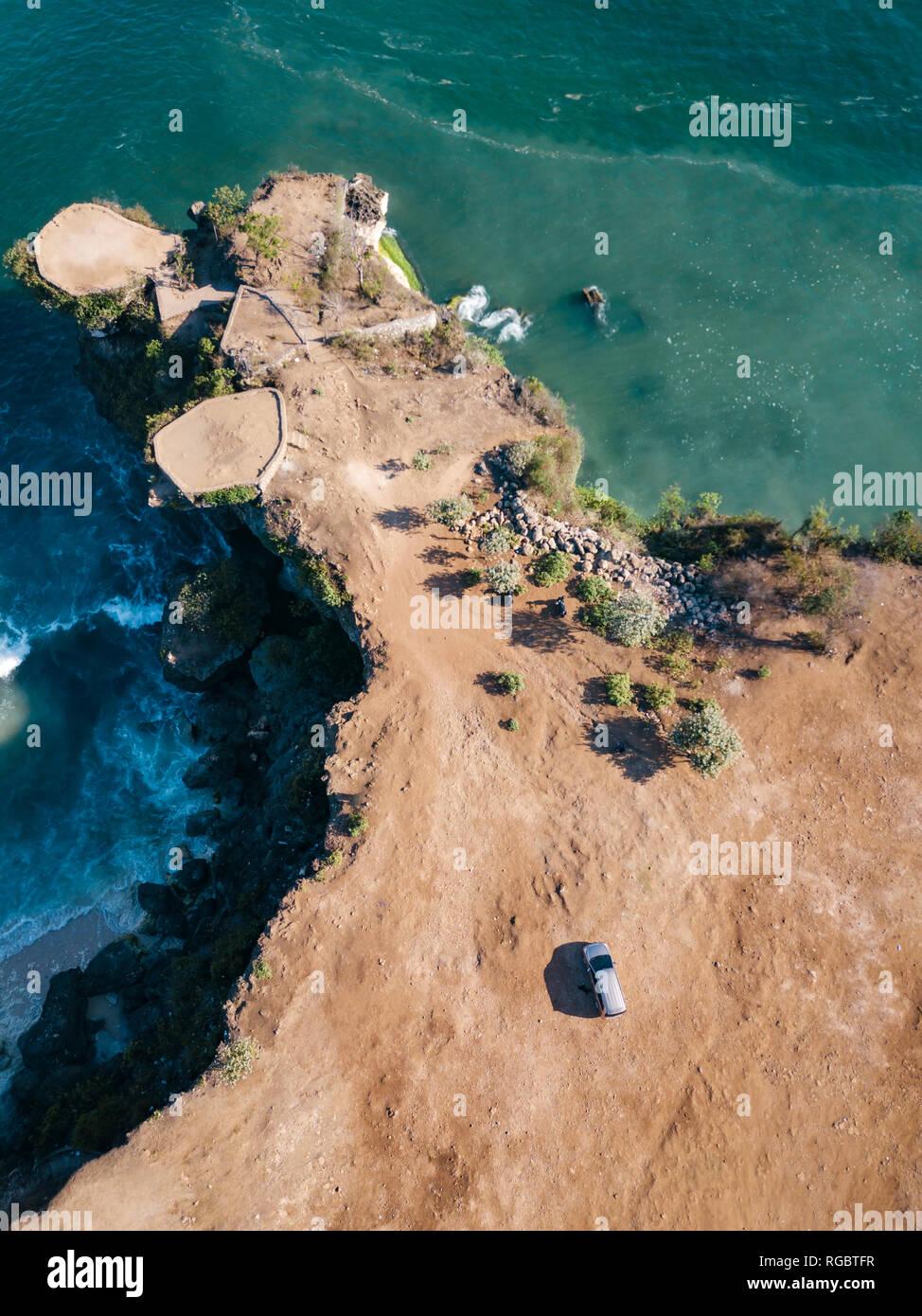 Indonesia, Bali, Aerial view of Balangan beach, viewpoint - Stock Image