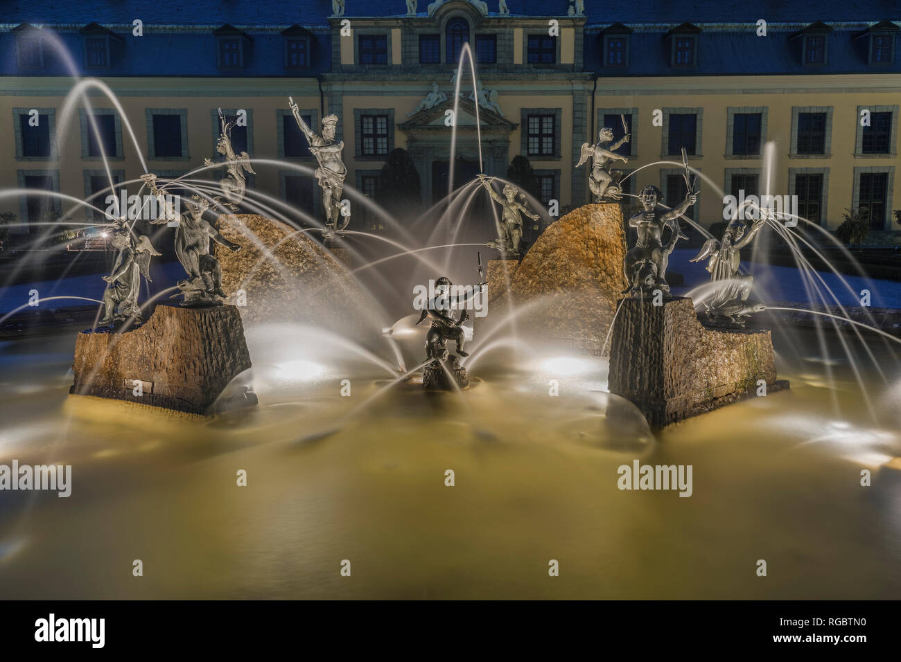 Illumination Of The Gardens Of Herrenhausen Stock Photos