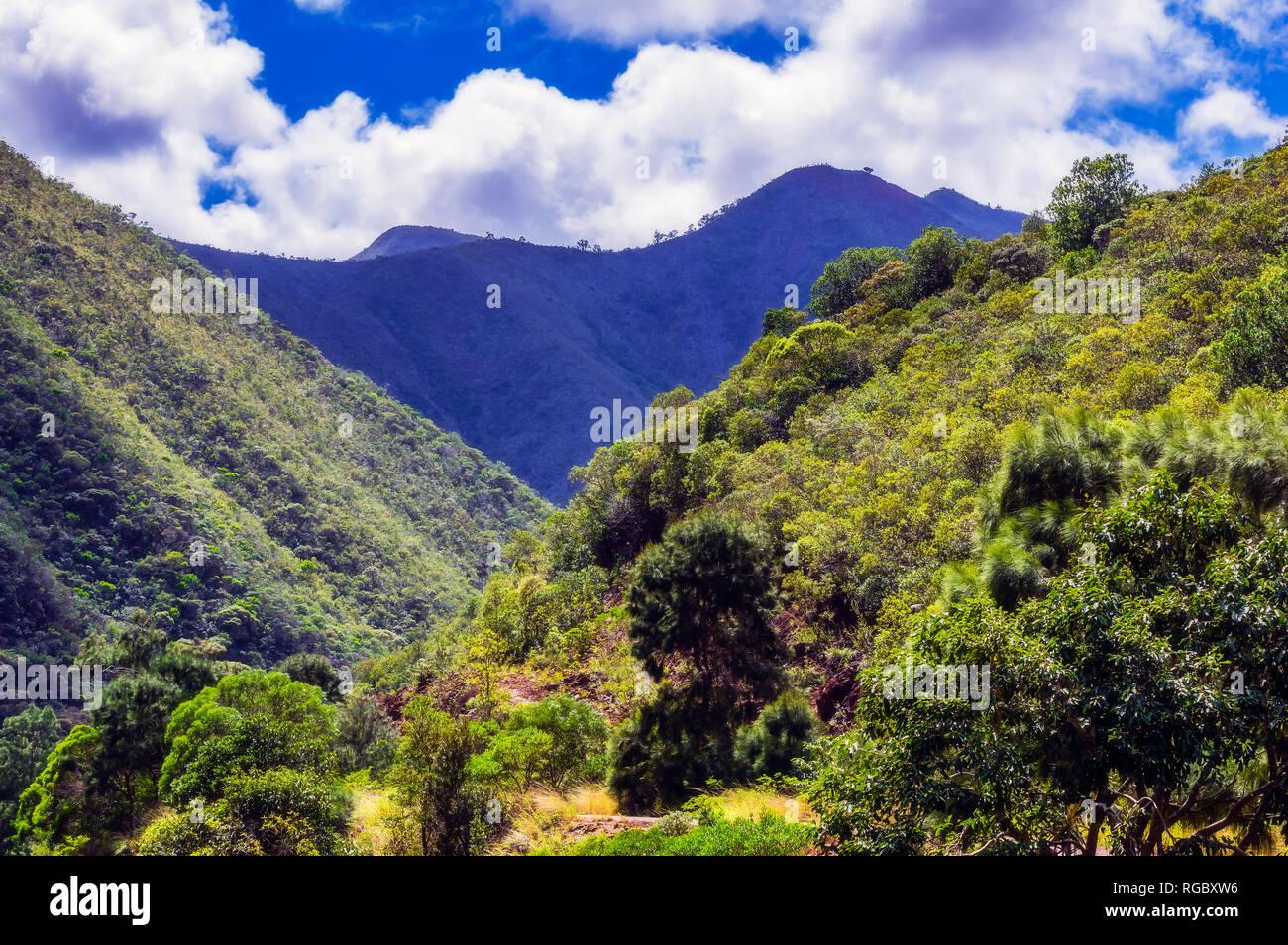 New Caledonia, Noumea, mountains - Stock Image