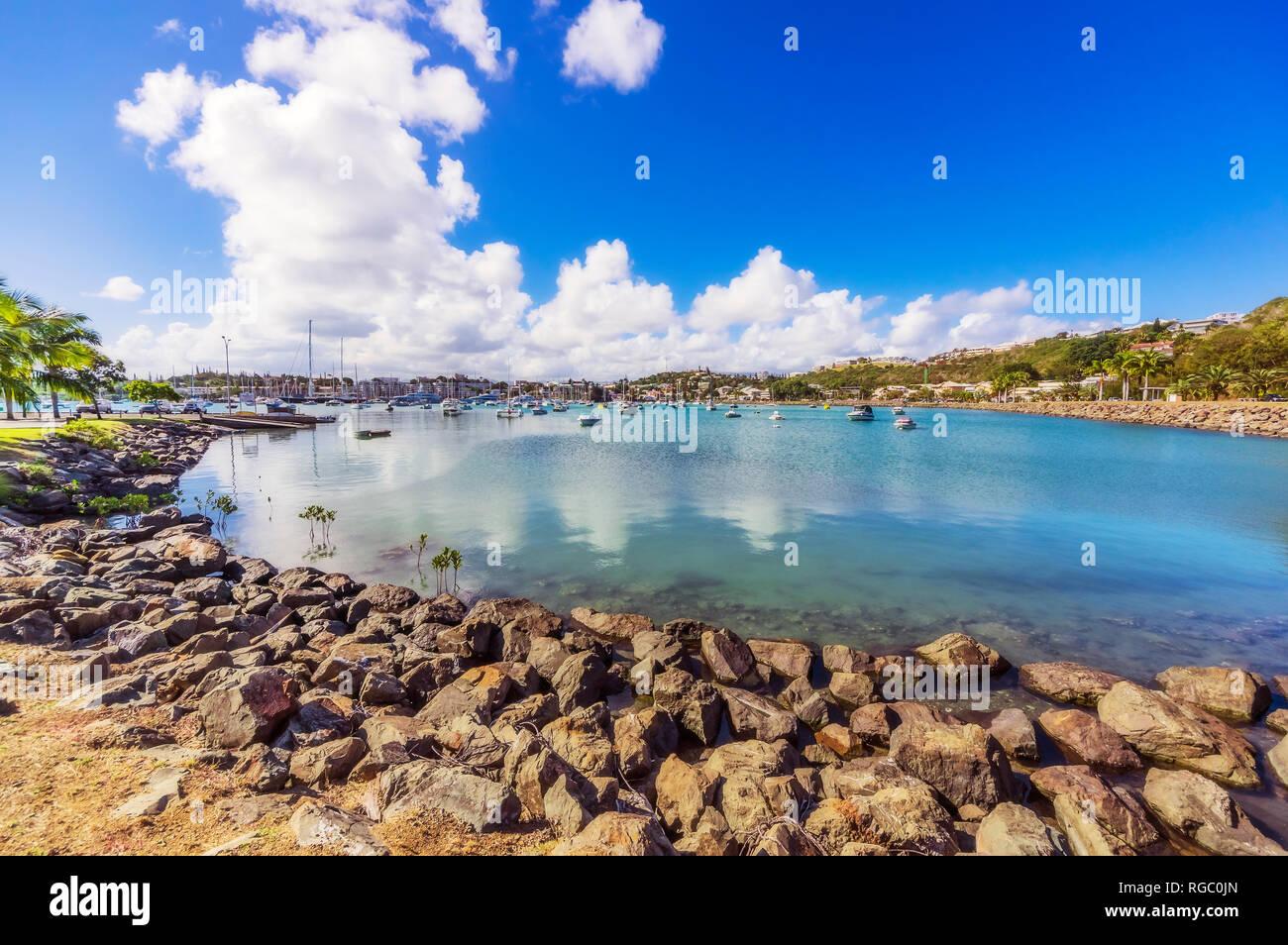 New Caledonia, Noumea, harbour - Stock Image