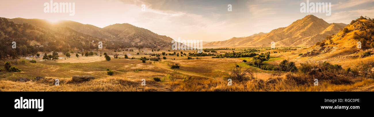 USA, California, Three Rivers, panoramic view - Stock Image