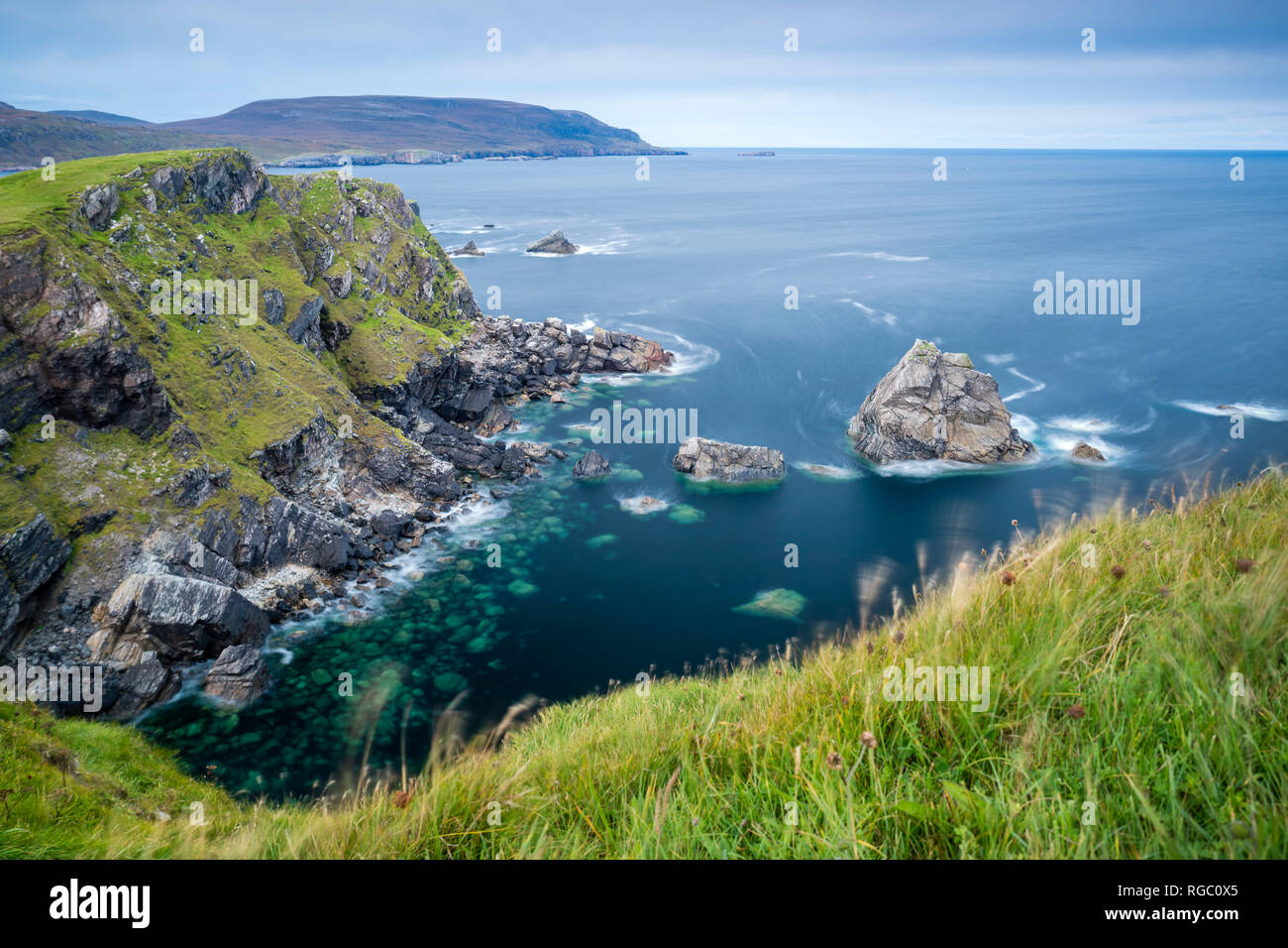 UK, Scotland, Highland, North Coast 500, Faraid Head near Durness - Stock Image