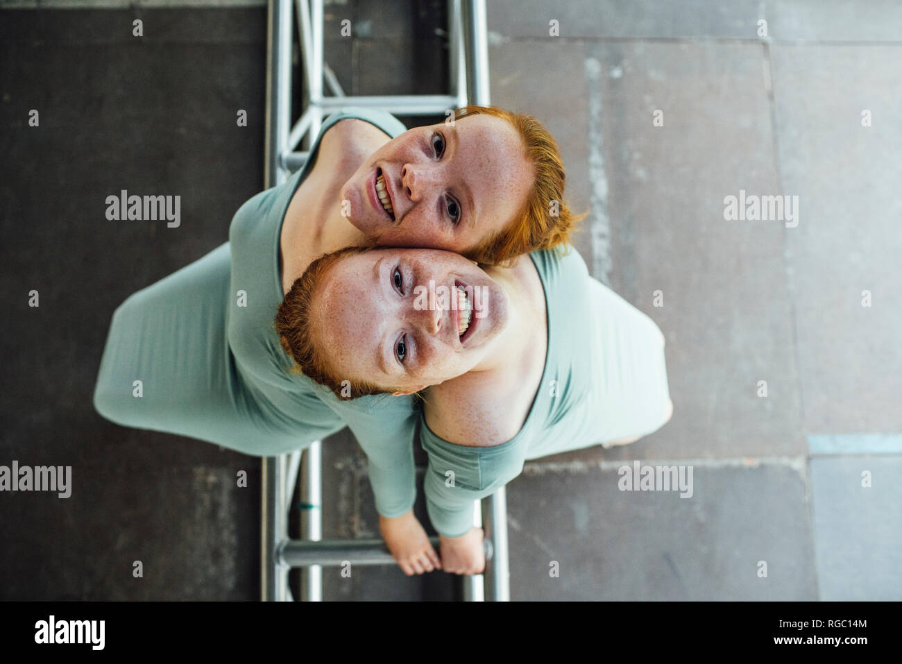 Redheaded twins - Stock Image